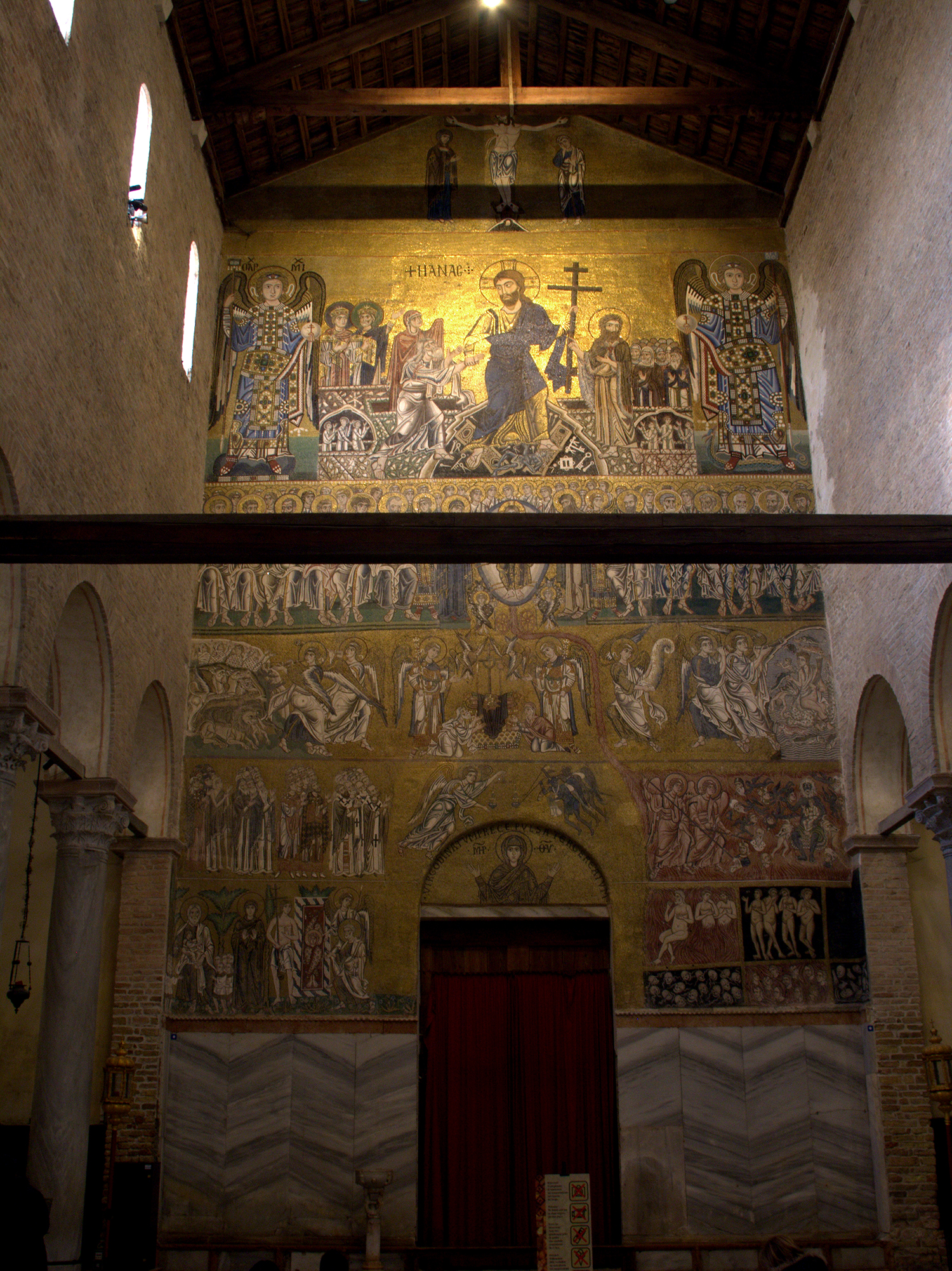 Figure 4:The Last Judgment is depicted in this eleventh-century mosaic on the west wall of the basilica church of Santa Maria Assunta at Torcello, Italy. Photo © User: Ismoon / Wikimedia Commons / CC-BY-SA-3.0.