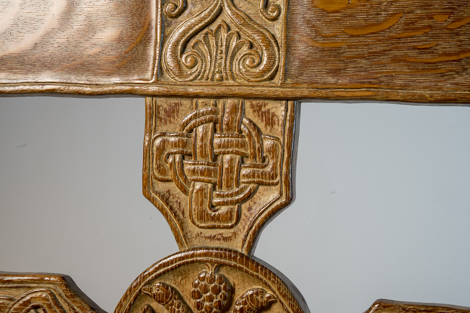 Figure 6: Detail of a design on the back (front side) of Glencairn's chair.