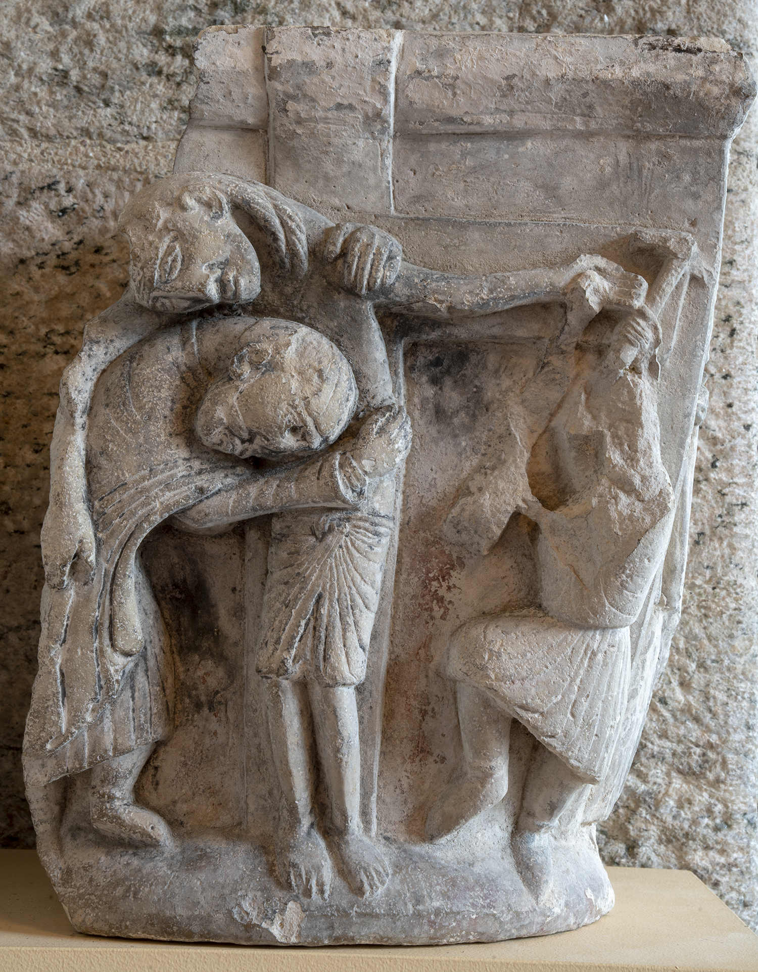 Figure 8: Descent from the Cross .Limestone capital, 12th c.(?) Spain.09.SP.53. See Figure 9.