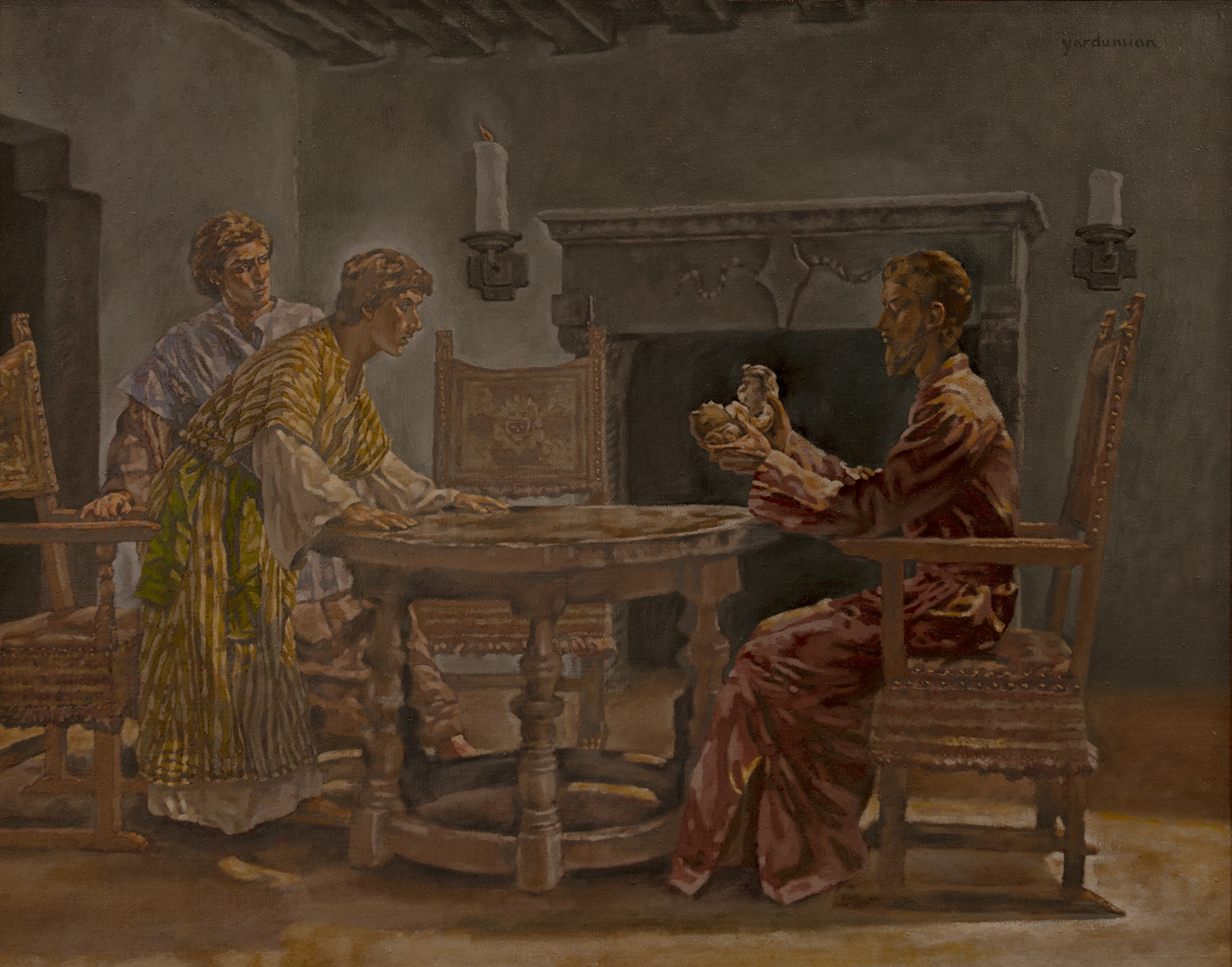 Figure 6:  Supper at Emmaus . Luke 24:30-31 . Oil on canvas,circa 1981. On loan from Kent Junge.