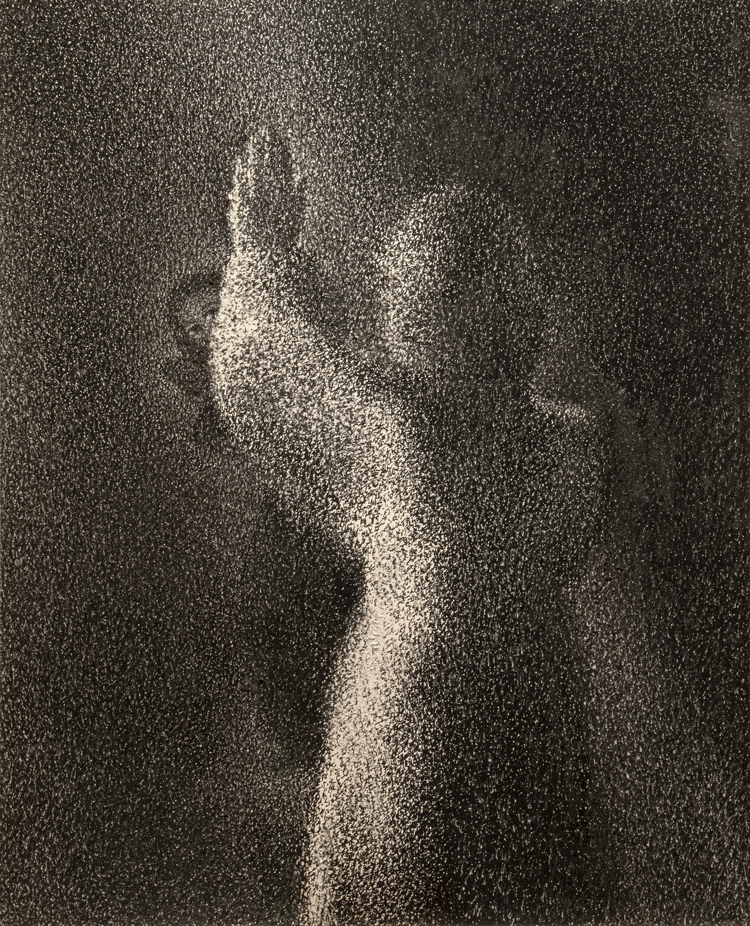 Figure 5:  Annunciation to Mary .  Luke 1:26-38 . Pen and ink, 1979.On loan from Miriam Yardumian.