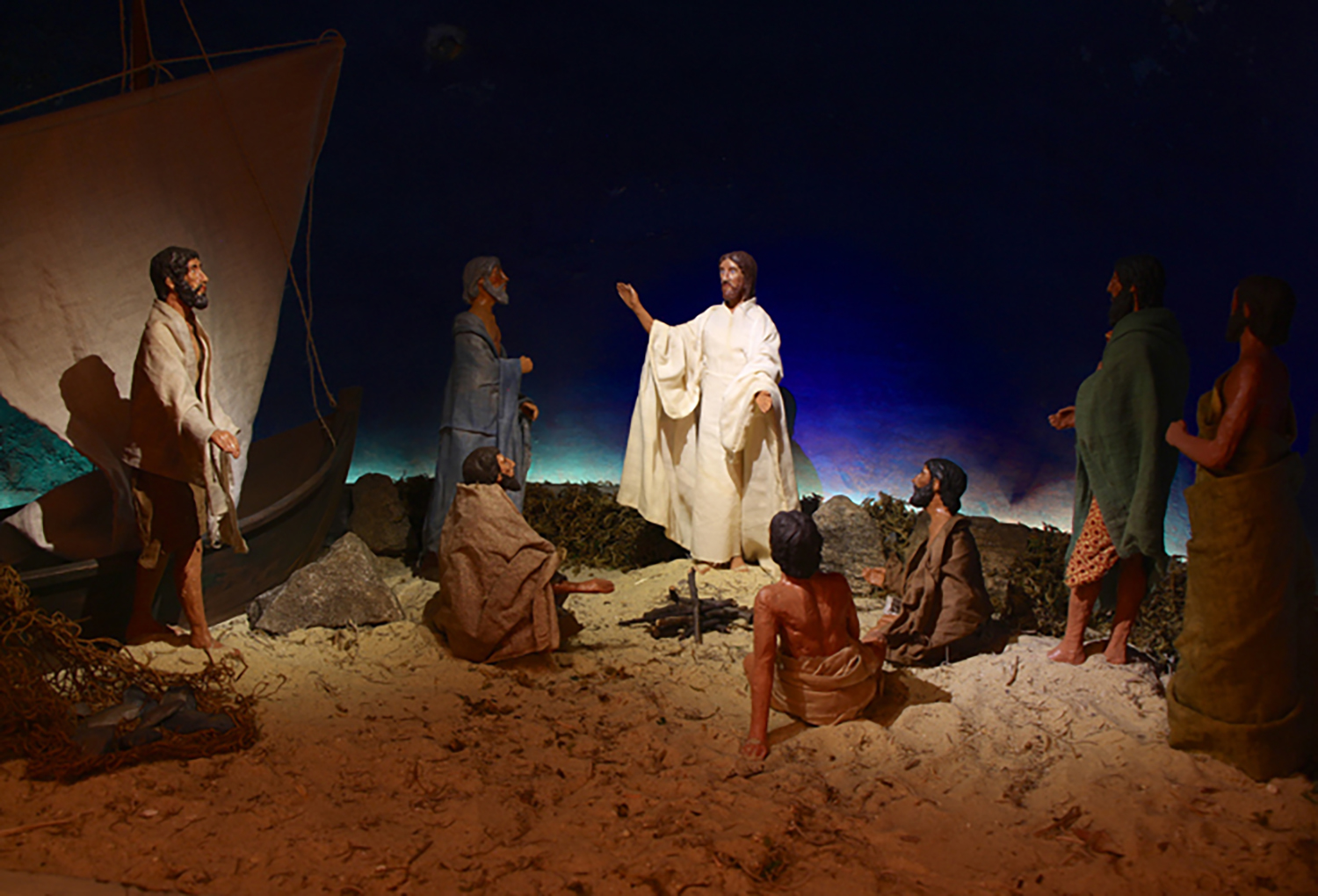 Figure 7: Jesus appears to seven of His disciples by the Sea of Galilee following His resurrection. This is the final scene in the Winfred Hyatt Easter scenes designed for the Pitcairn family in the 1920s.