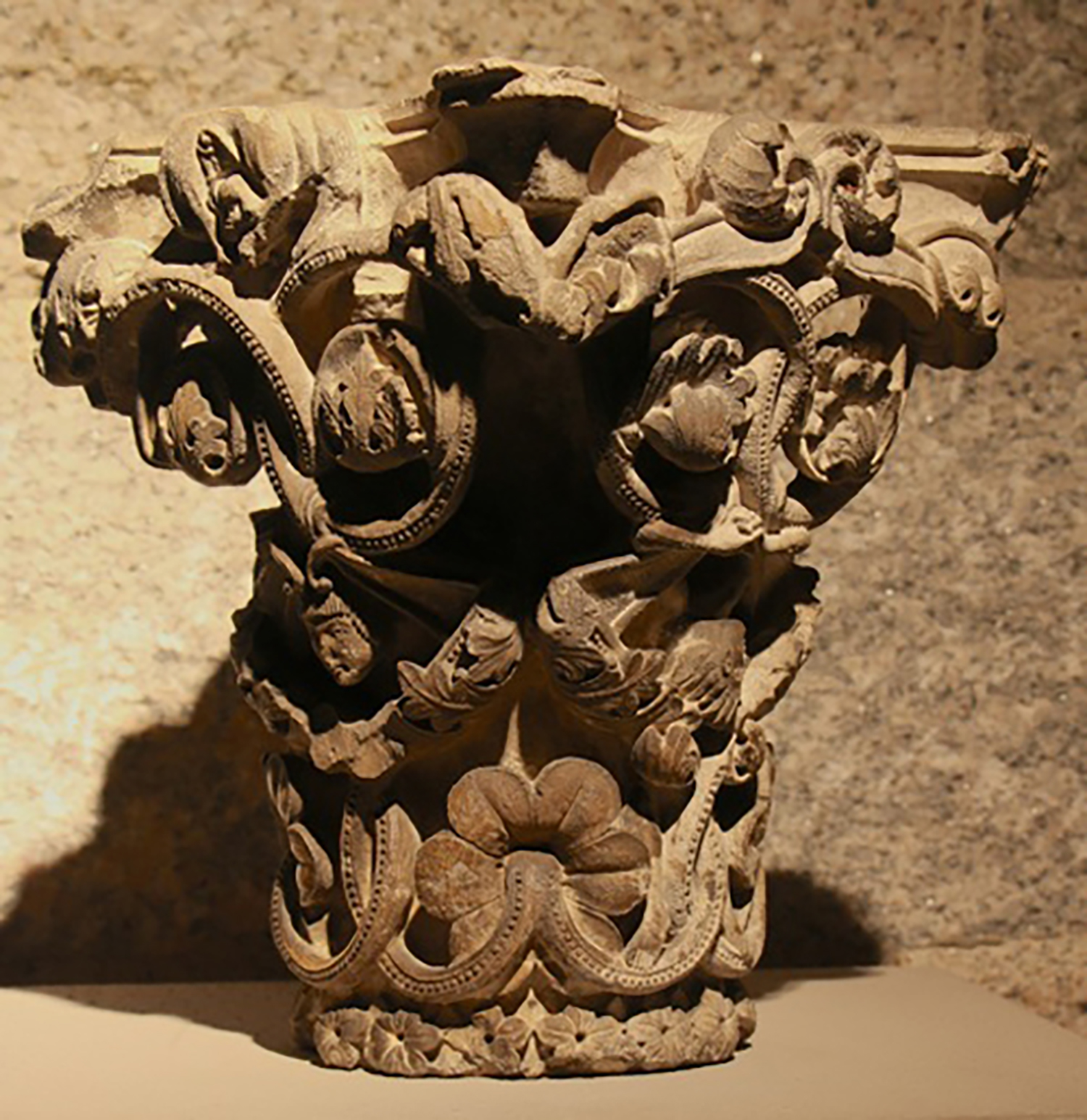 Figure 1: Romanesque capital from the monastery of Saint-Guilhem-le-Désert.