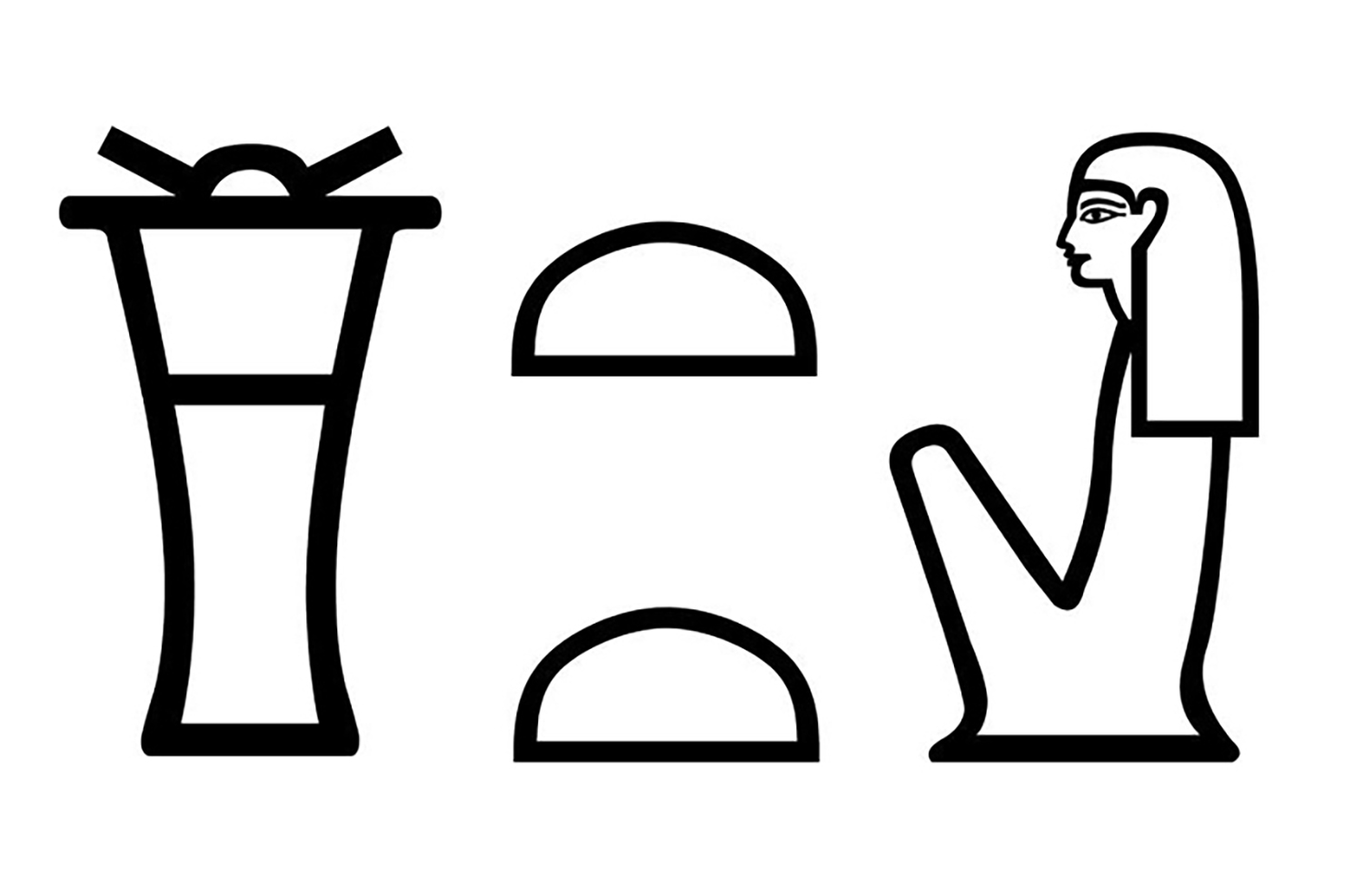 Figure 8: The name of Bastet in hieroglyphs.