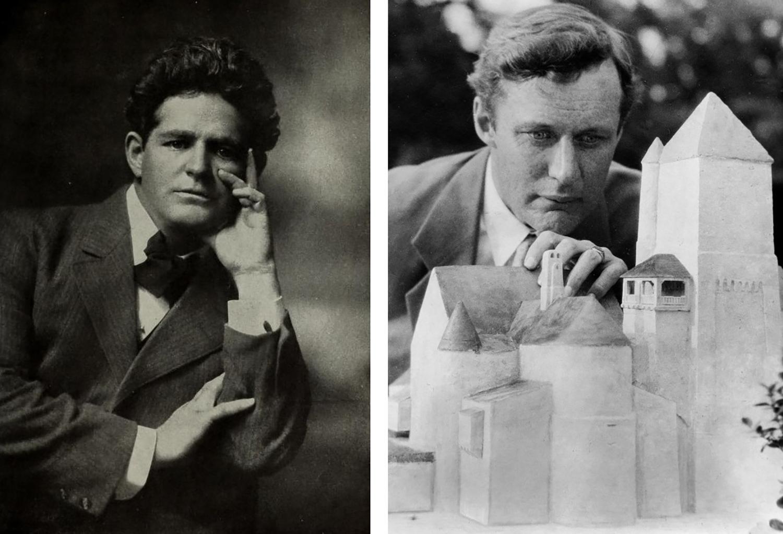 Figure 2: George Grey Barnard (left); Raymond Pitcairn with a model of Glencairn.