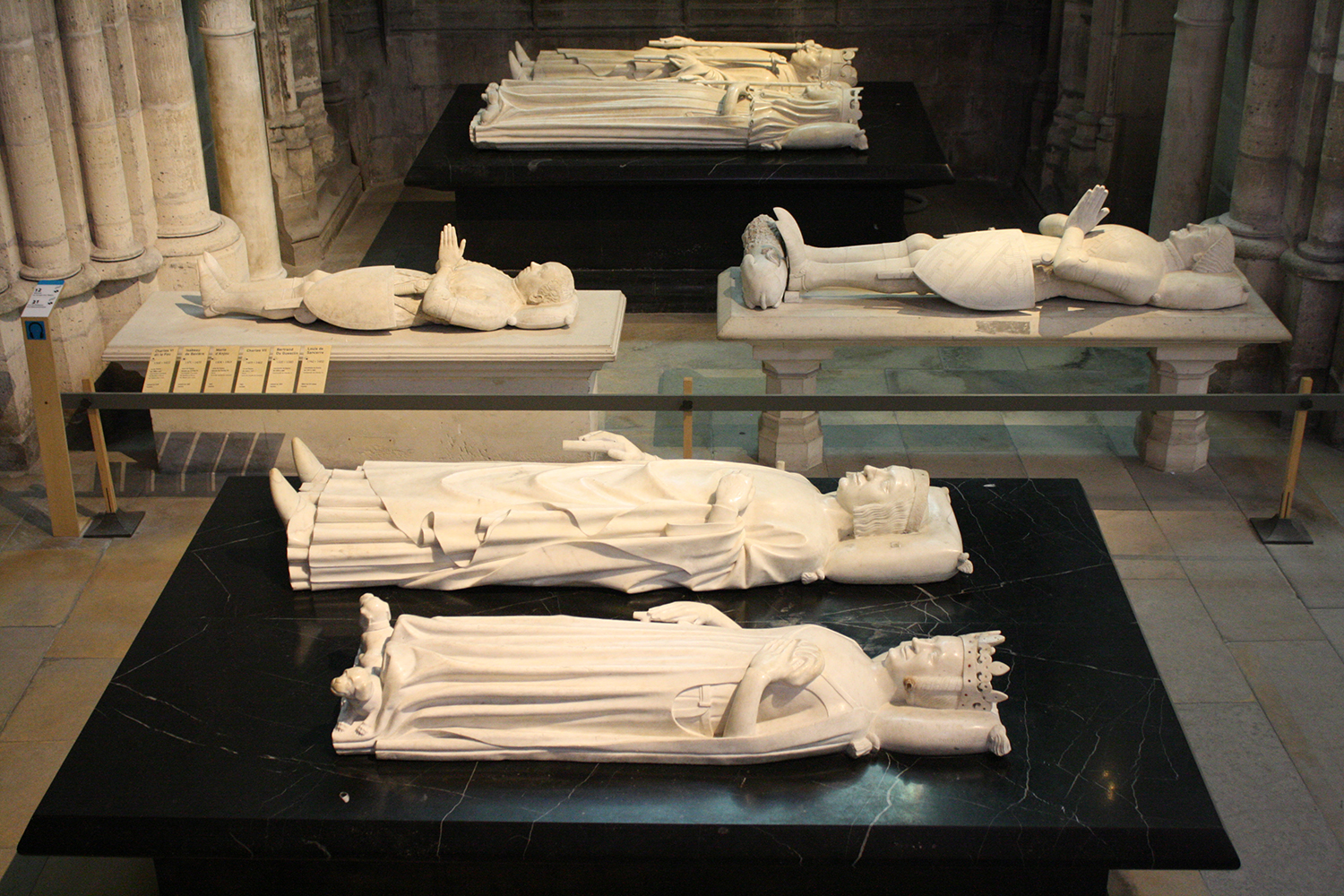 Figure 13: Abbey of Saint-Denis interior with graves of generations of kings. Photograph by Julia Perratore.