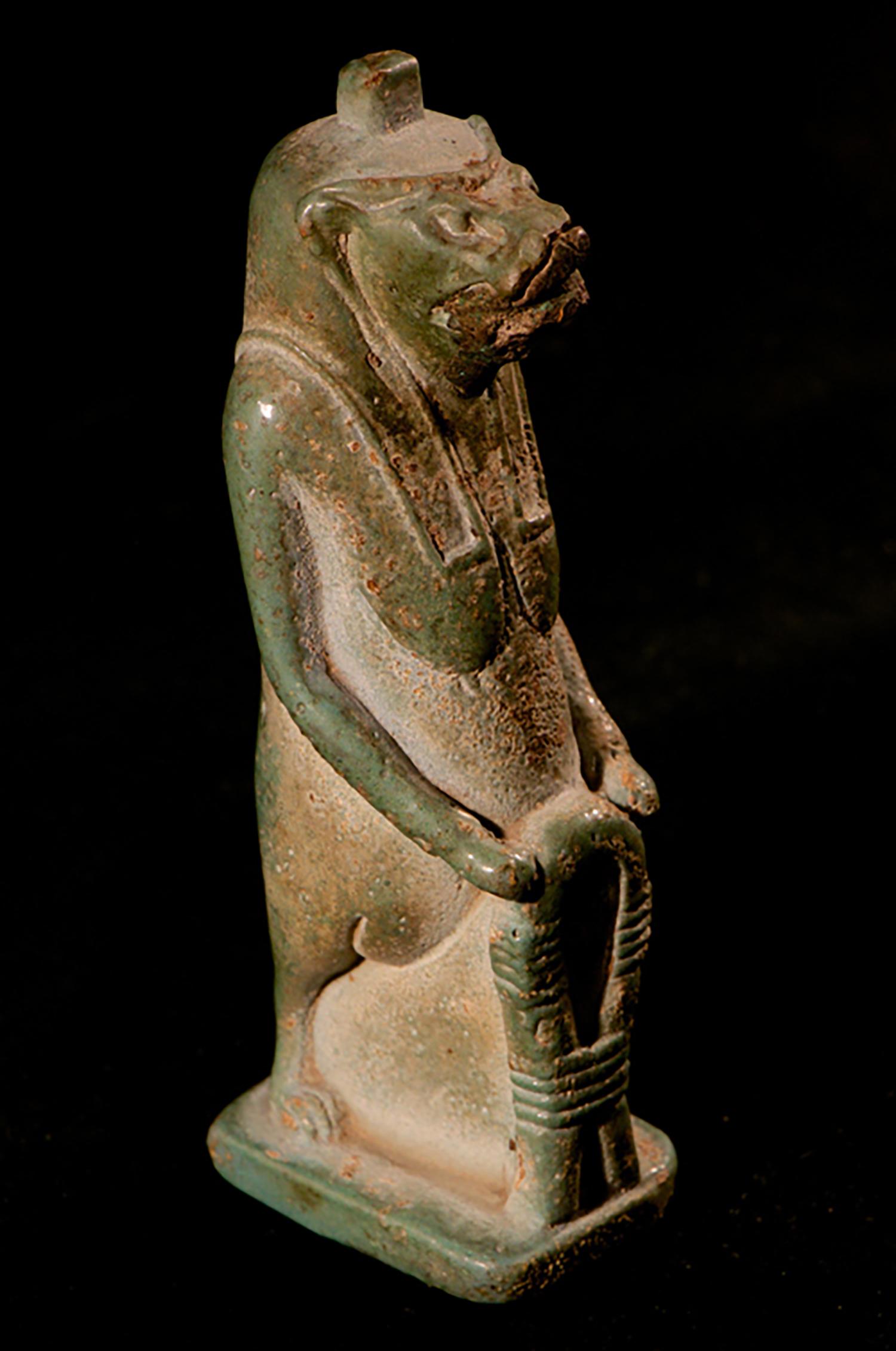 Figure 13: Glencairn Museum's Taweret figurine. Late Period. Glencairn Museum E66.