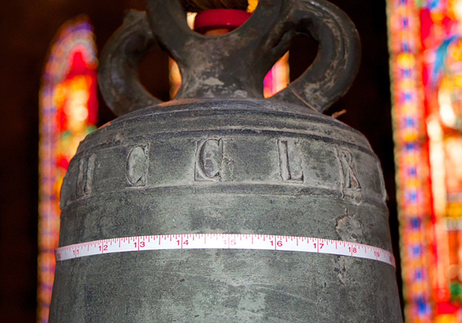 Figure 3: Inscription on 1297 Bell on East Side of Great Hall