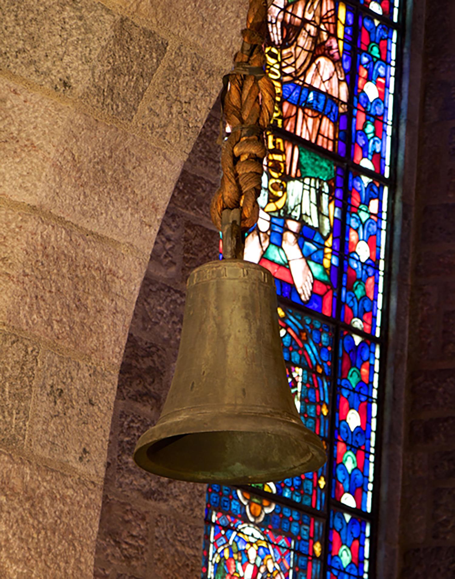 Figure 7:Thirteenth-Century Bronze Bell on East Side of Glencairn's Great Hall