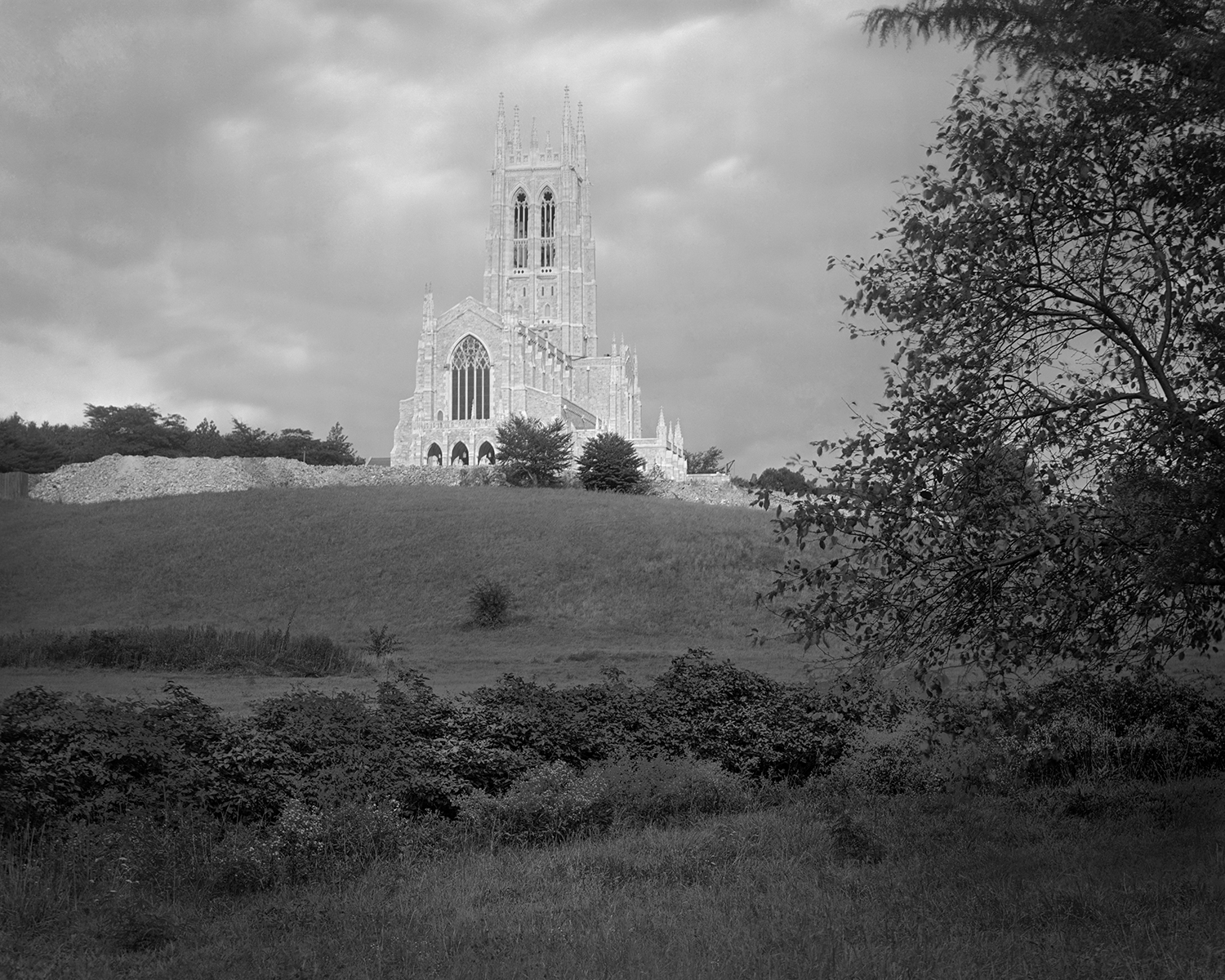 Figure 4: View of Bryn Athyn Cathedral from the valley (c. 1919).