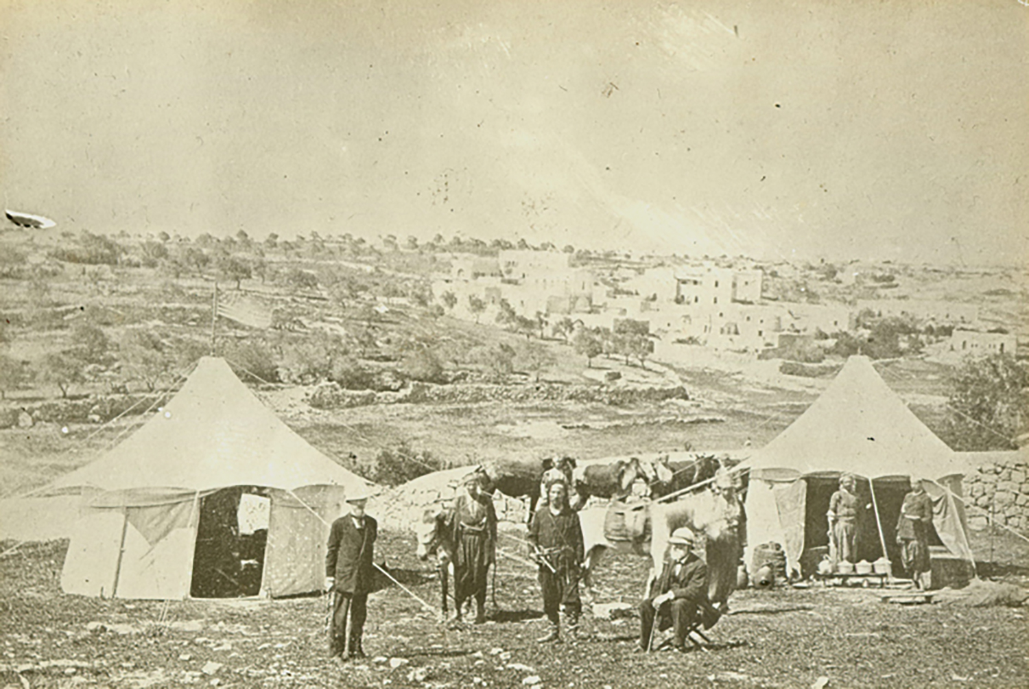 Figure 1: William Henry Benade and John Pitcairn near the Jaffa Gate, Jerusalem, 1878.