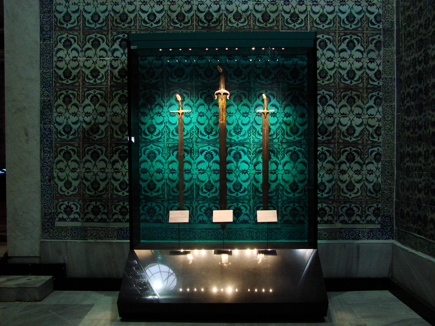 Figure 6: Relics of the Prophet Mohammed in the Topkapi Palace Museum, Istanbul.