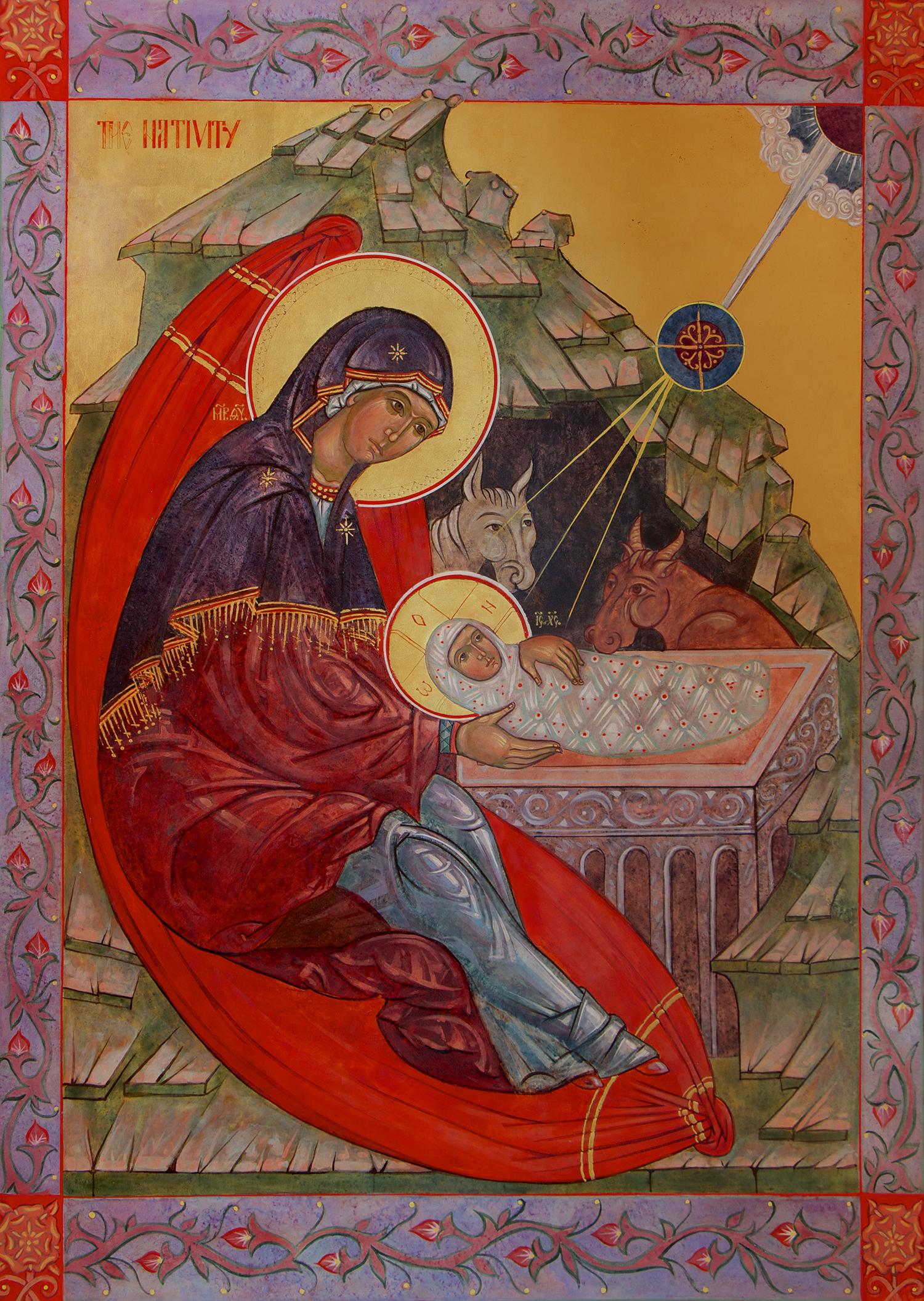 Figure 9: Nativity Icon by Susan Kelly vonMedicus
