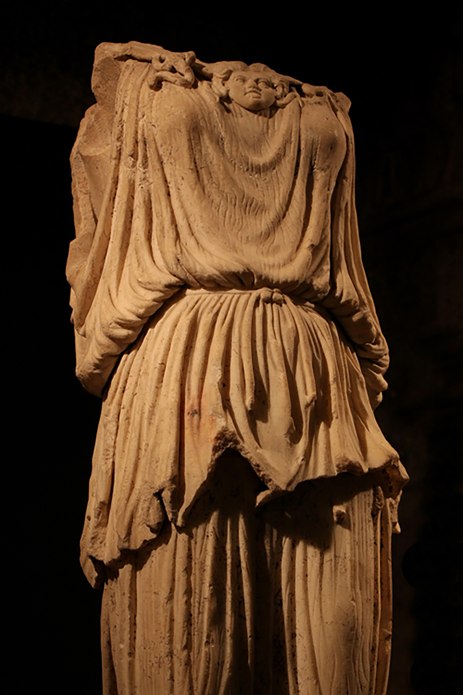 Statue of the Roman goddess Minerva-Victoria in Glencairn's Roman and Early Christian Gallery.