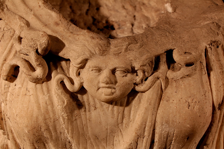 Figure 3: Clasp in Shape of Medusa's Head.