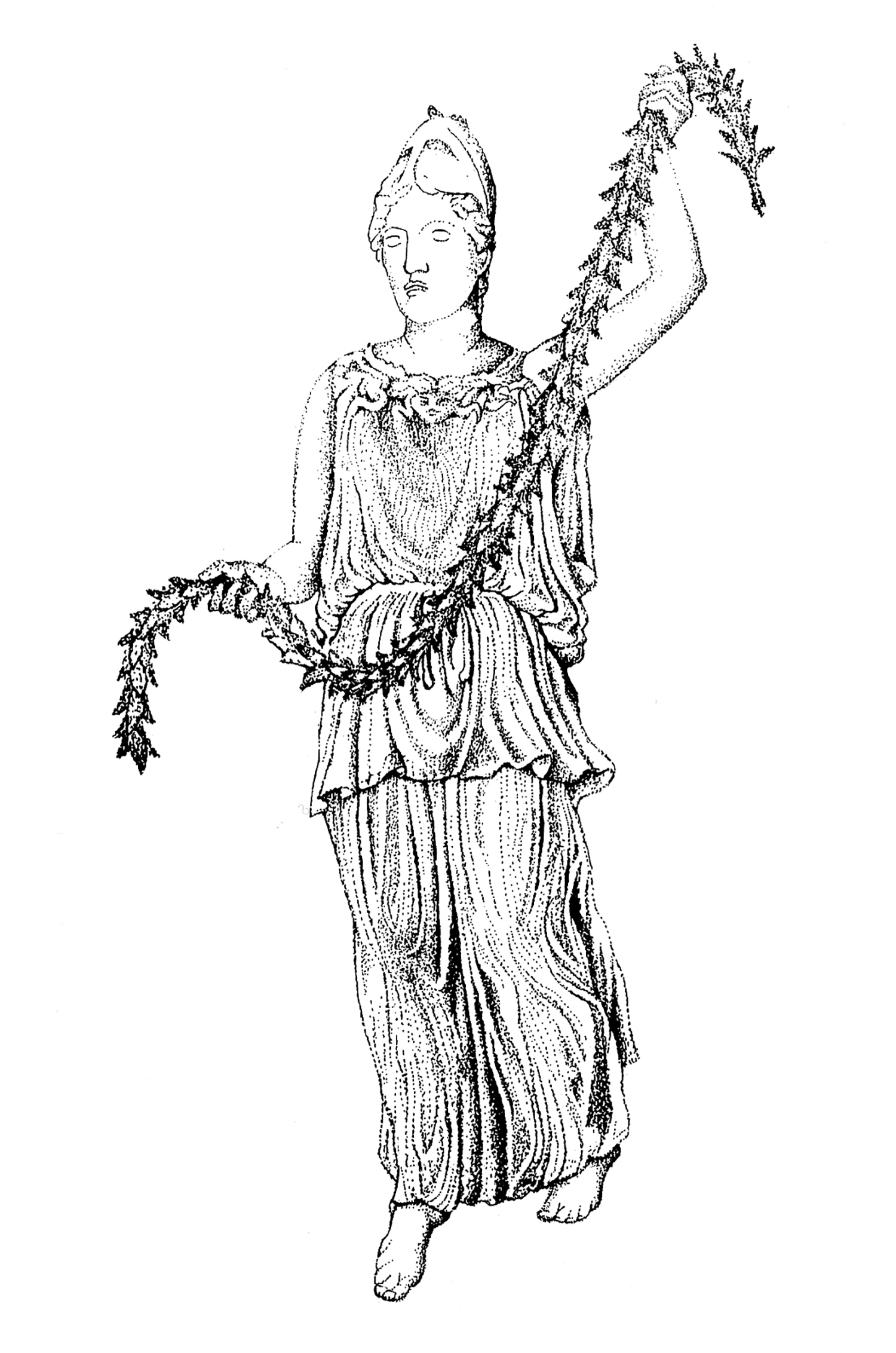 Figure 4: Reconstruction Drawing by Martha Gyllenhaal.