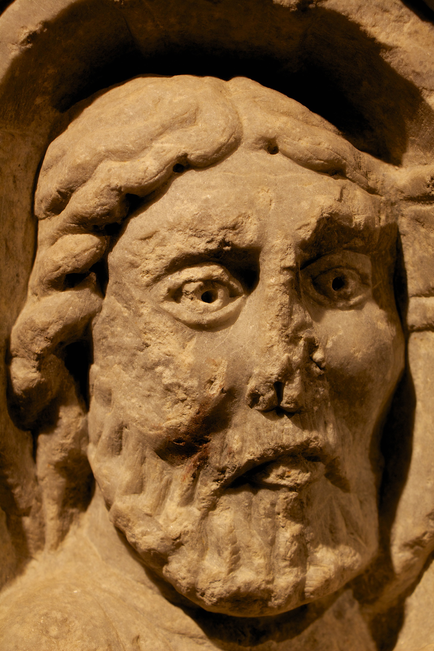 Figure 4: Detail of the face of Christ.