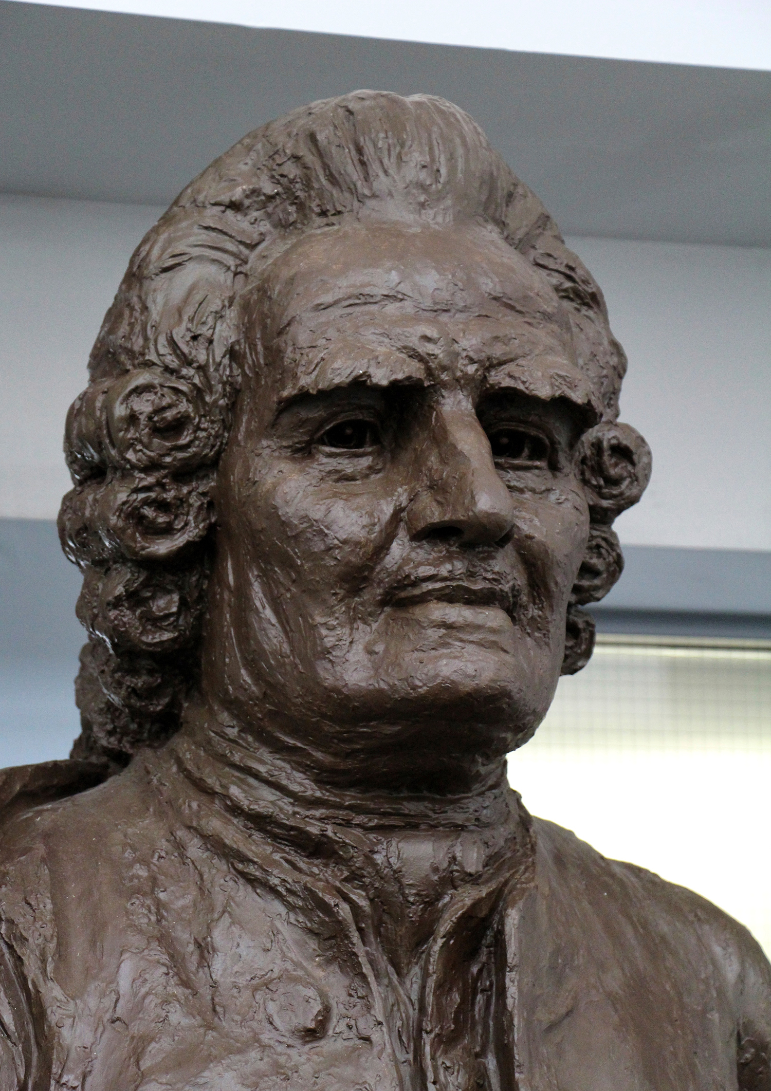 Figure 1: Plaster bust in the Swedenborg Library, Bryn Athyn.