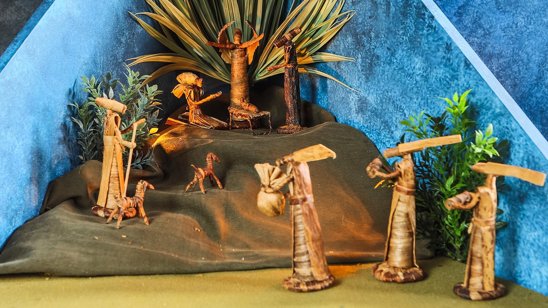 Figure 4: Nativity from Kenya made from banana leaf fibers.