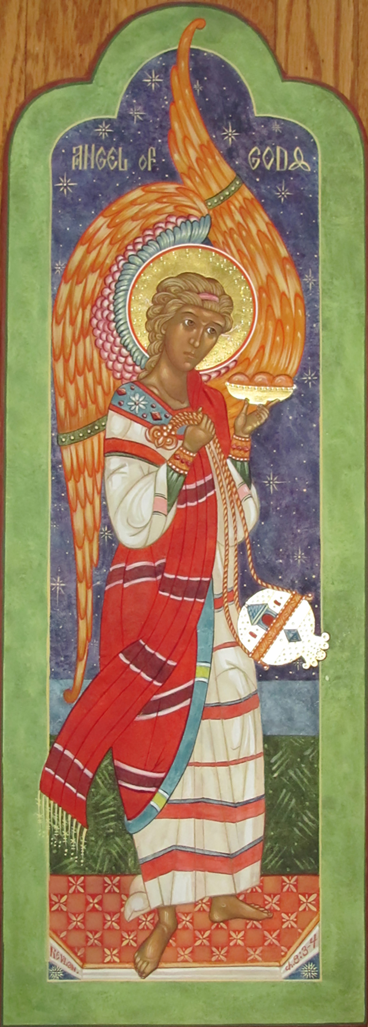 Figure 1: Icon of Glencairn angel by Susan Kelly vonMedicus.