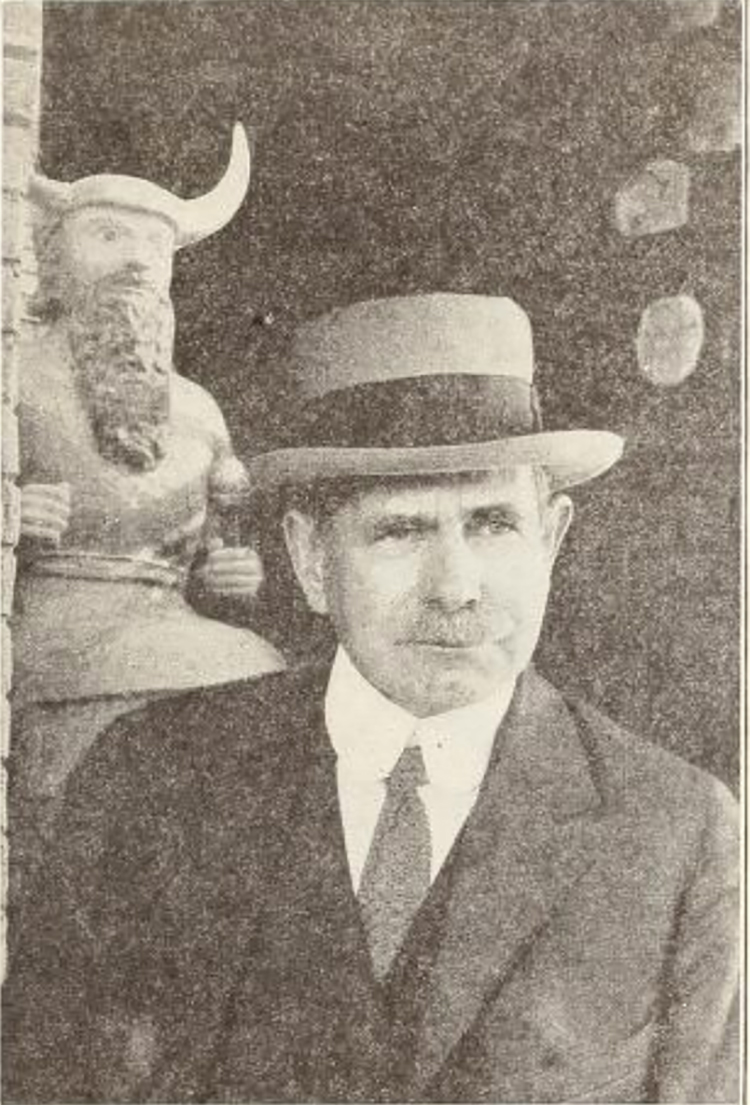 Figure 9: Edgar James Banks (1866-1945), an archaeologist sometimes credited as an inspiration for Indiana Jones. (Photo from  The Photodramatist , March 1922, 23.)
