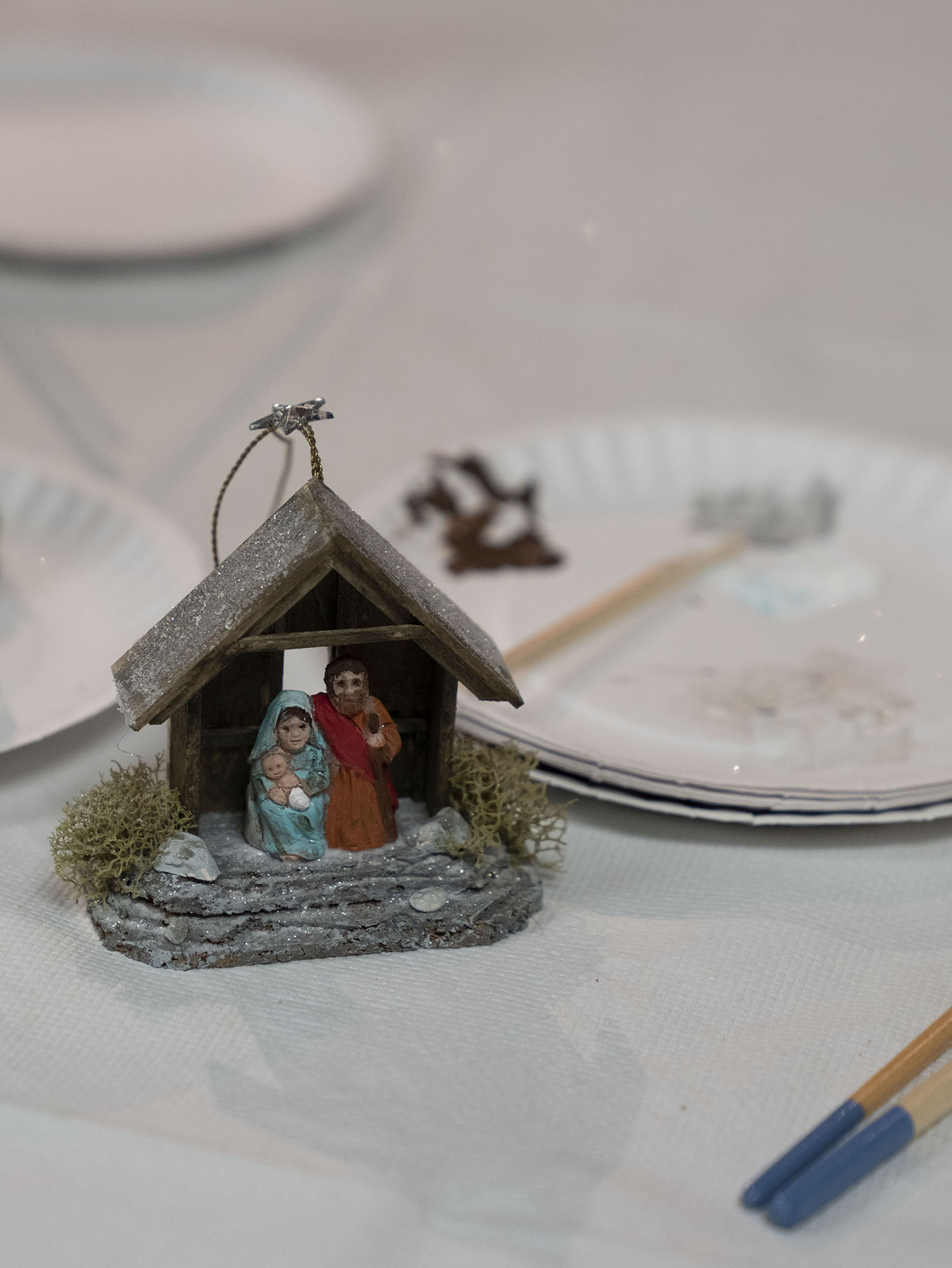 Figure 20: A Nativity project completed by one of the workshop participants.