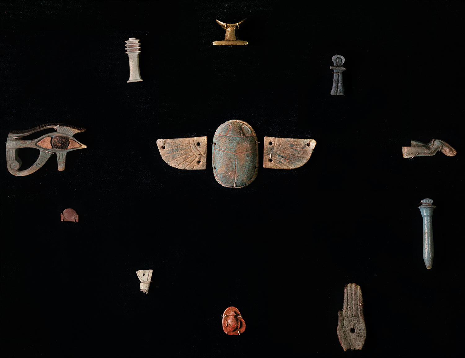 Figure 1: The Egyptians buried their dead with objects they believed would ensure a successful transition to the afterlife.