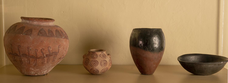 Figure 4: Predynastic pottery in Glencairn's Egyptian Gallery.