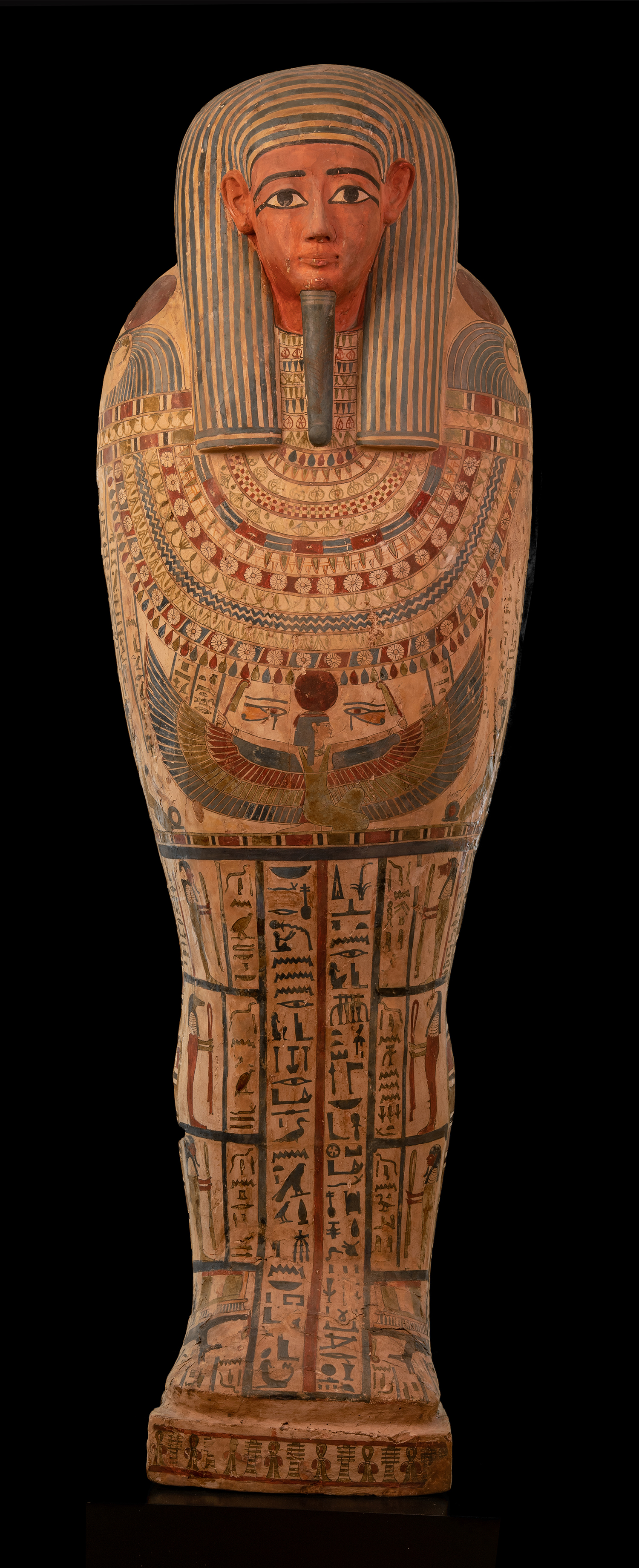 Figure 7: The beautifully painted coffin lid of Sema-tawy-iirdis (E1267).