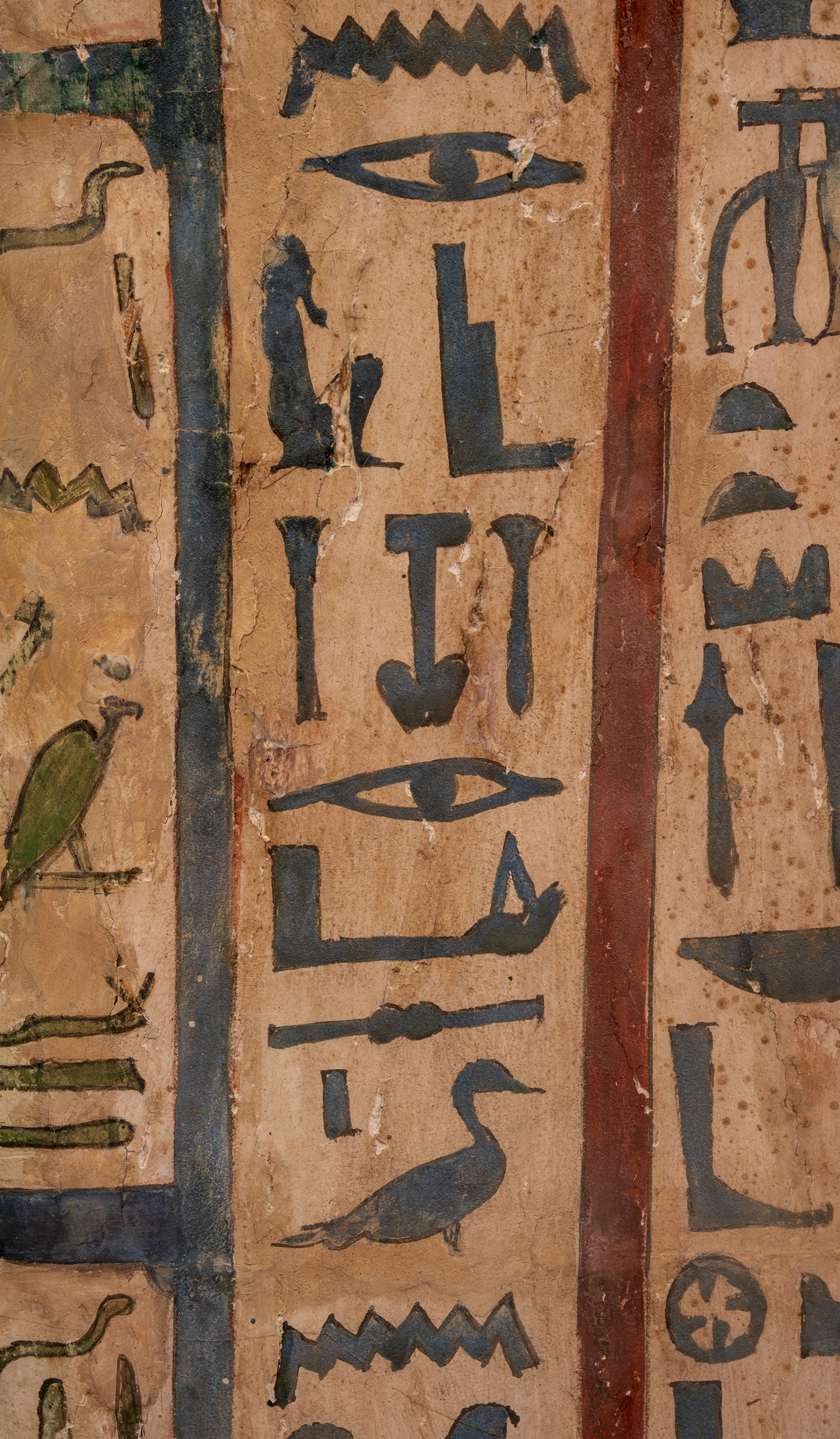 Figure 8: A closeup of the name of the coffin's owner, Sema-tawy-iirdis.