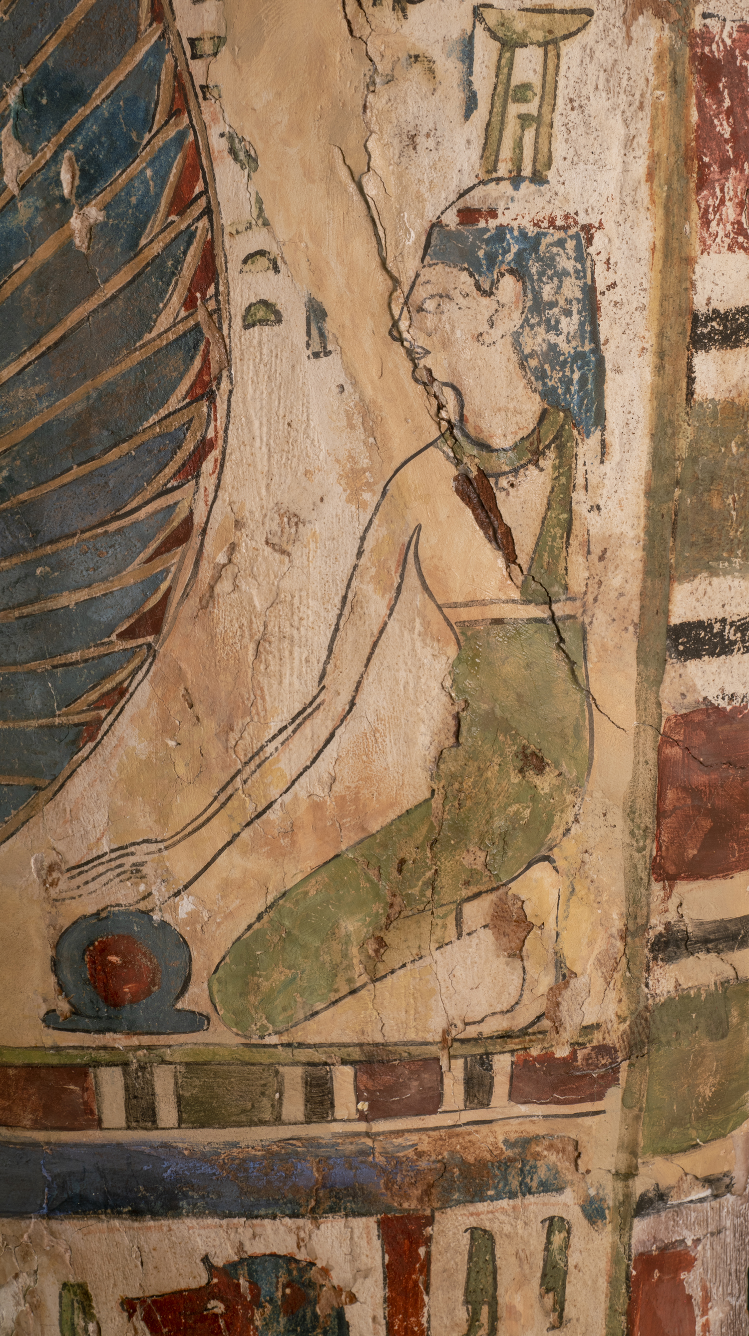 Figure 14: Nephthys is shown on the proper left side of the coffin of Sema-tawy-iirdis.