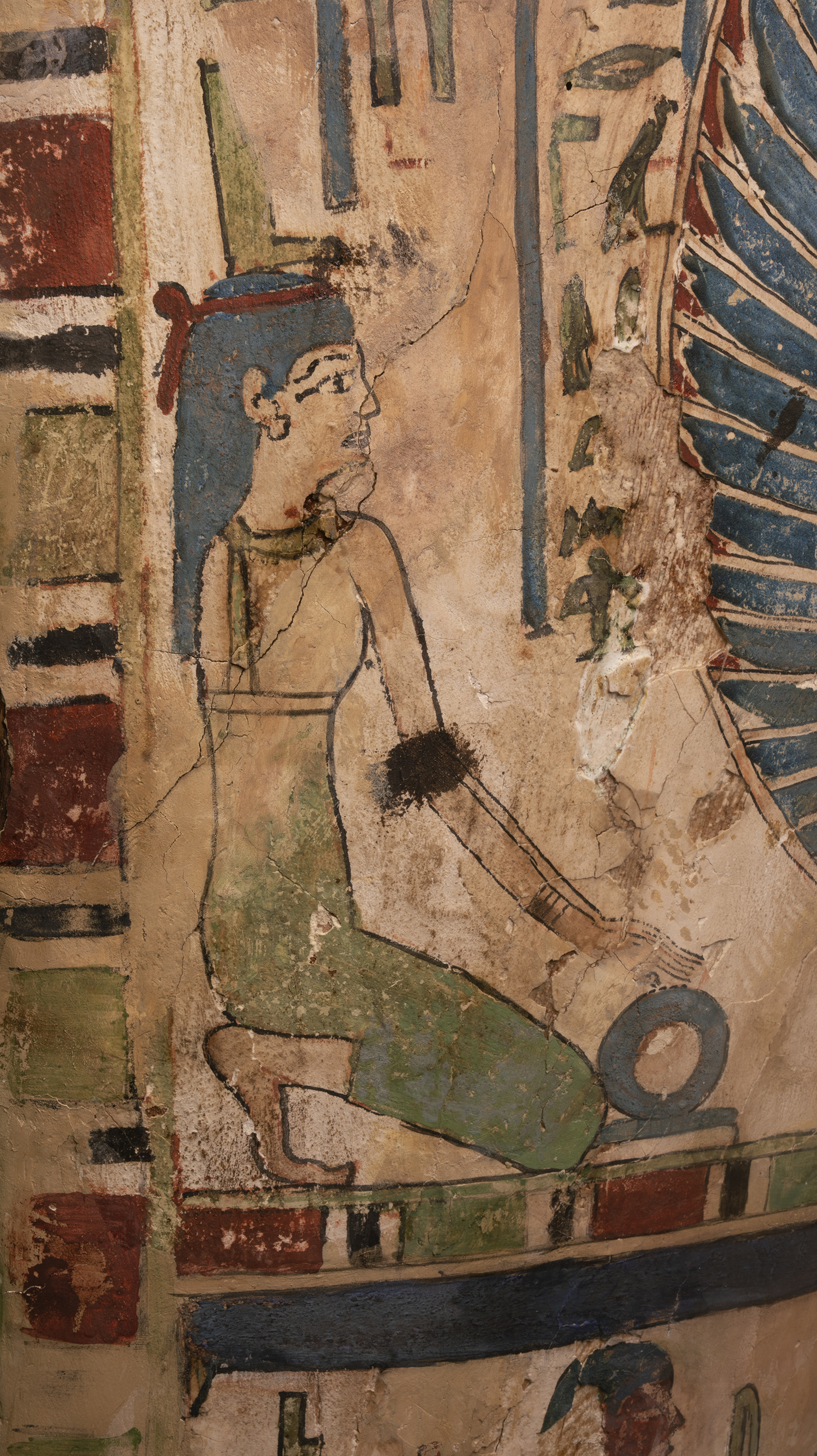 Figure 13: Isis is shown on the proper right side of the coffin of Sema-tawy-iirdis.