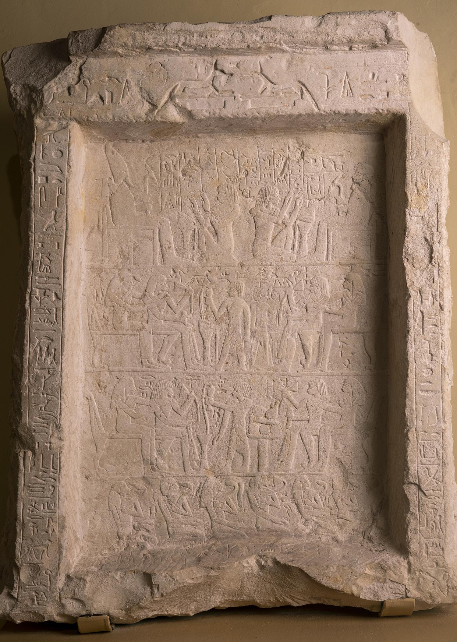 Figure 26: New Kingdom limestone funerary stela of Maienhekau (E1266).