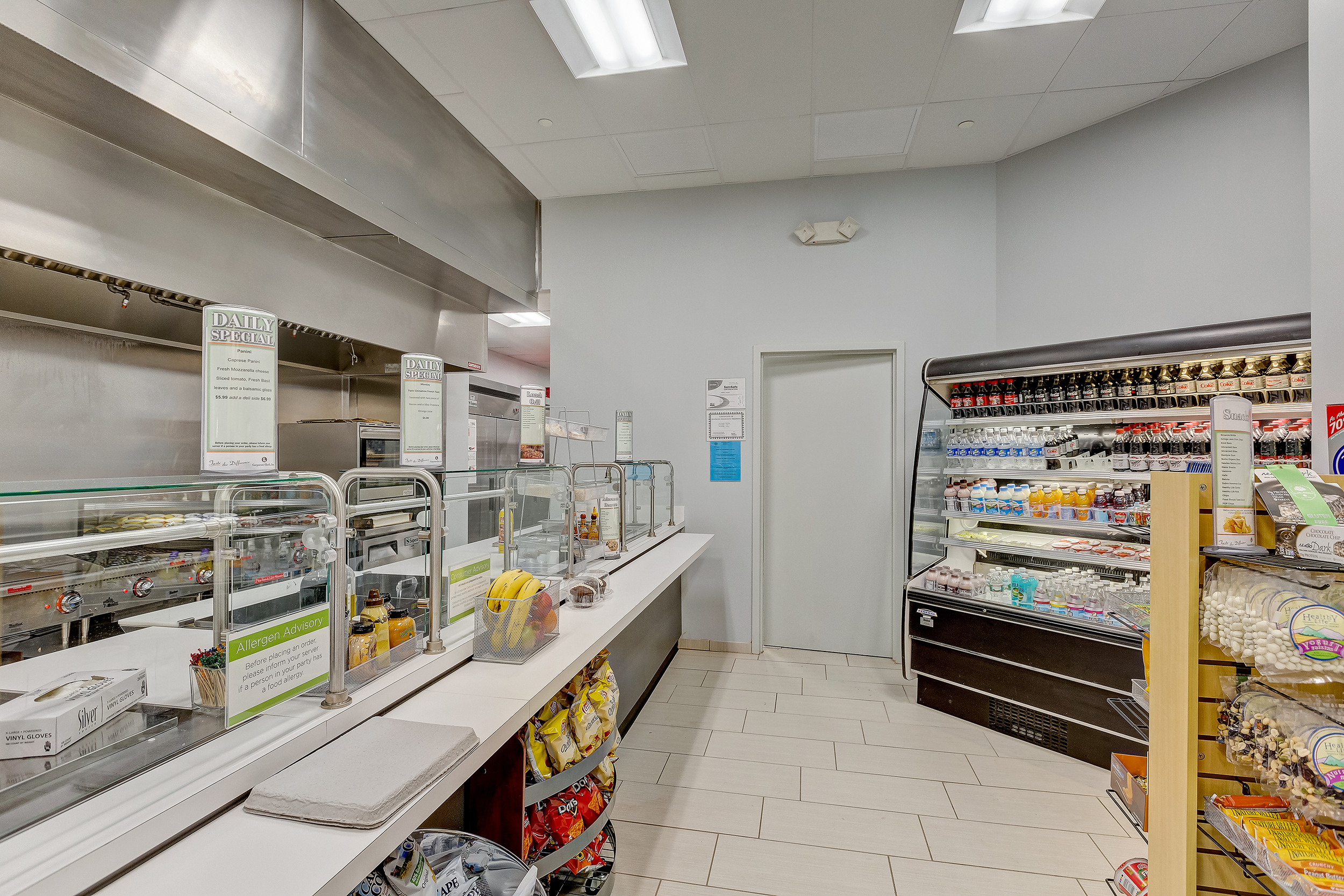 Renovated Café with new vendor, entirely new equipment and space to service the tenants at 1432 & 1440 Main
