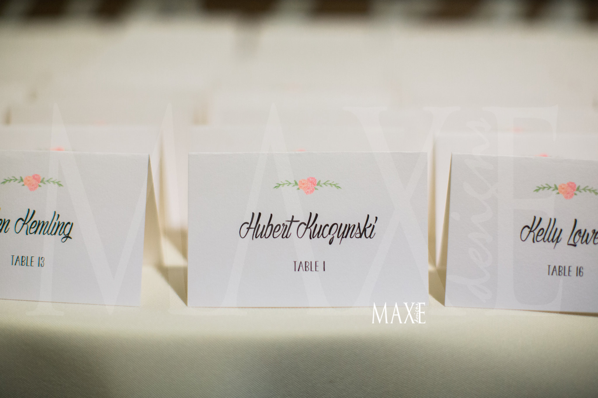 Allison & Adam's escort cards along with their style was a hit!