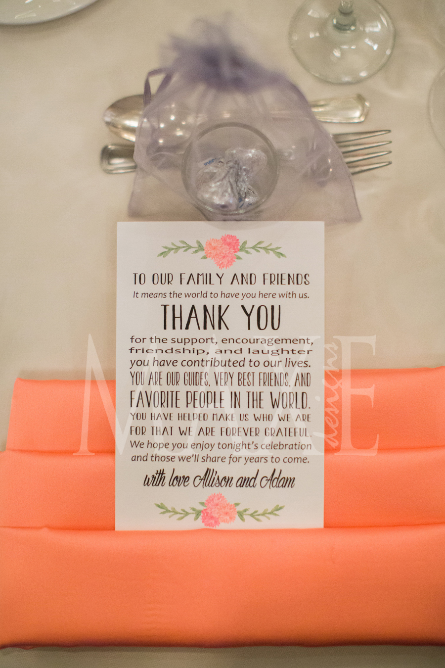 And Allison & Adam's style continues...so many ideas and so many ways to carry your style throughout your big day!