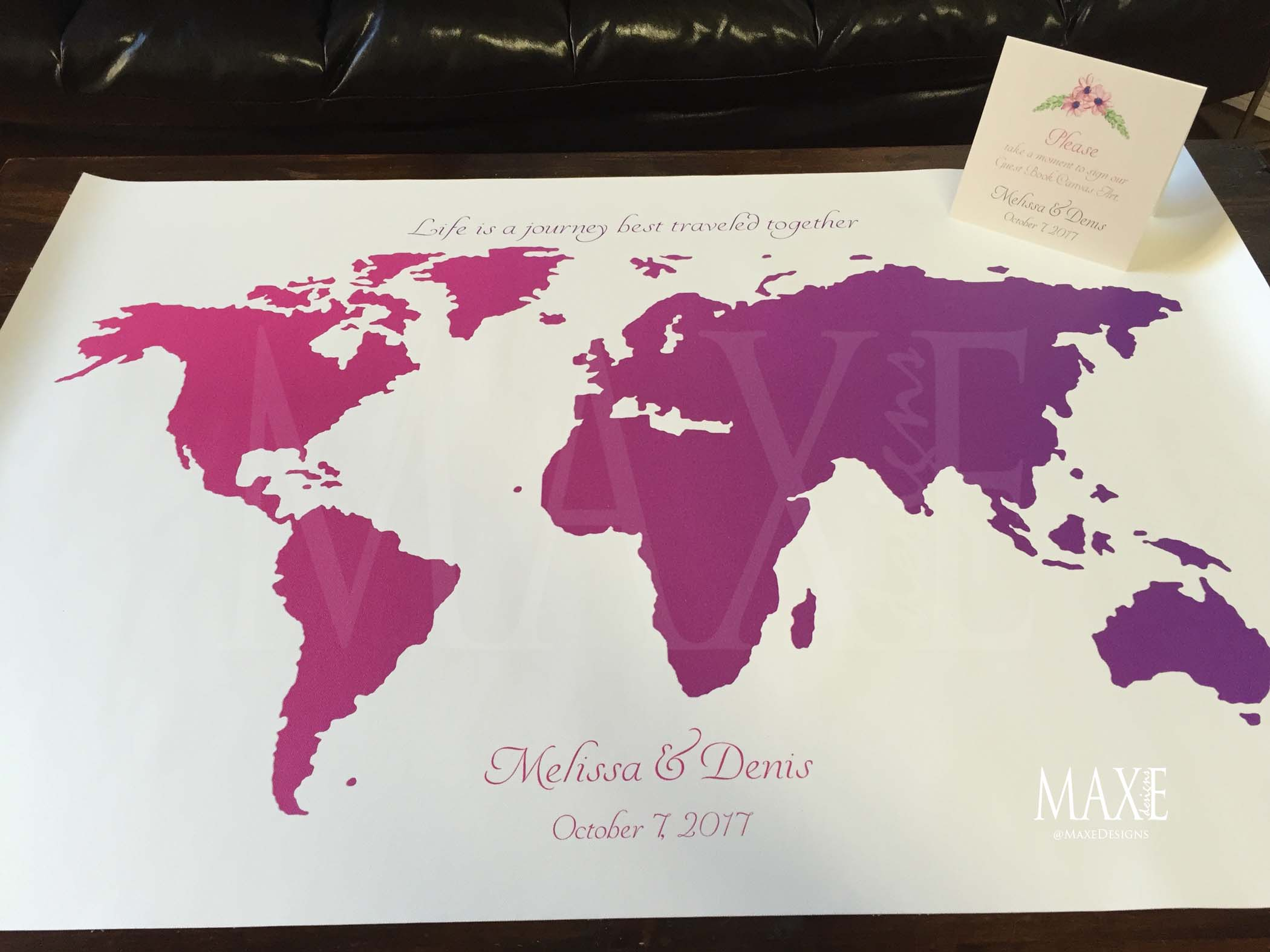 What a Canvas Art Guest Book!! YES please!! Melissa & Denis did their's in style!! :)