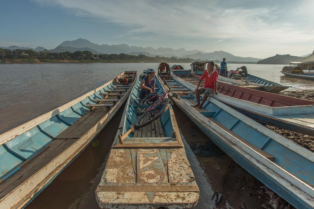 Cross rivers by boat