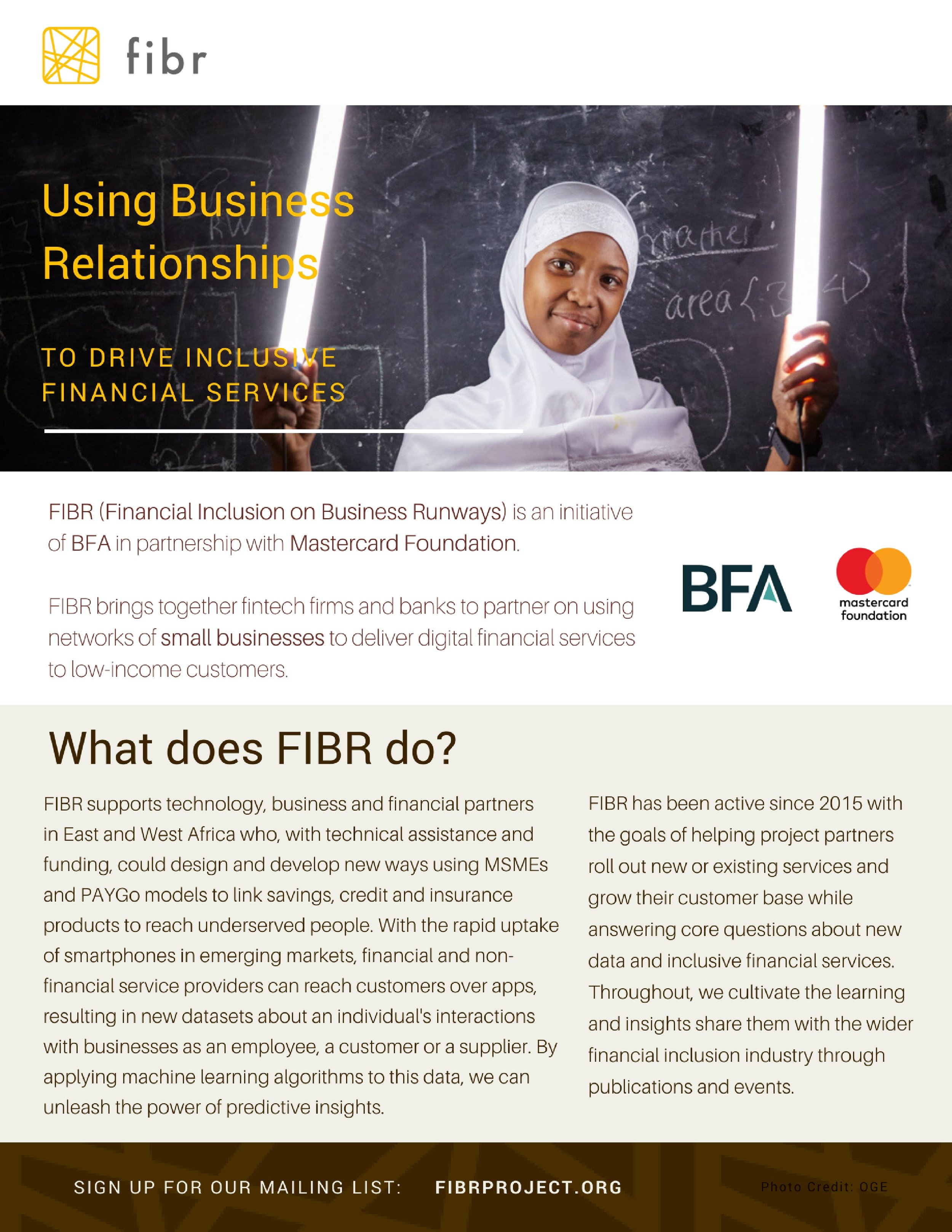 Download the FIBR two pager