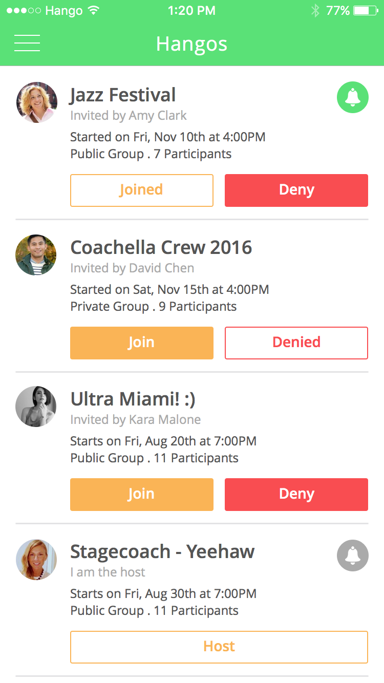 Invites   Create and manage all your upcoming festivals.