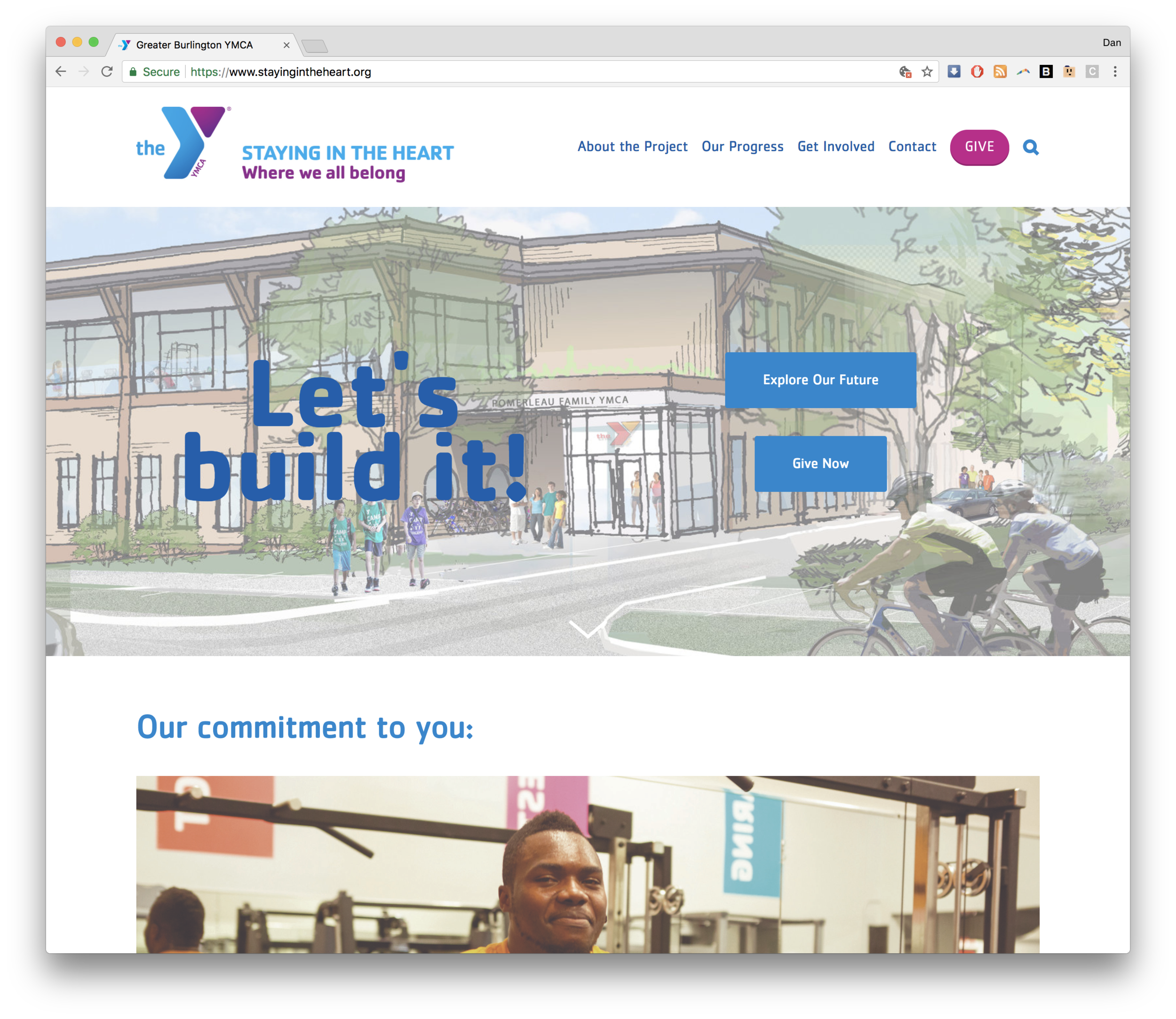 GBYMCA Capital Campaign Staying in the Heart of Burlington