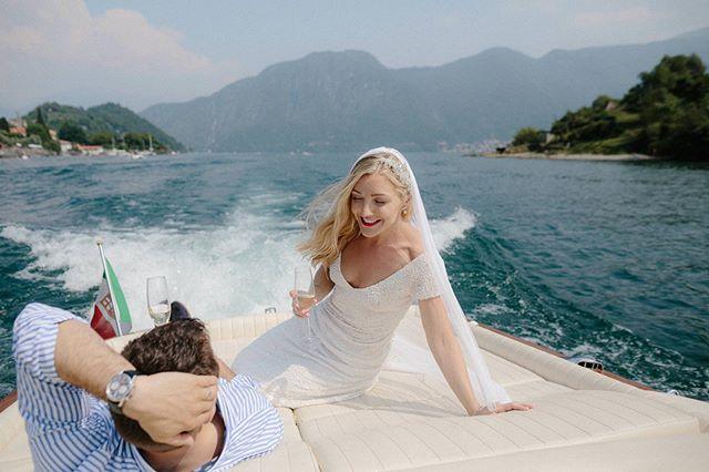 Lake Como magic ride with Lucy and Laurence 🚤✨ . . . #lakecomo #lakecomowedding  #destinationweddingitaly #destinationwedding #lakecomophotographer #lidodilenno #togetherjournal #elizajanehowell #elizajanehowellbride #italywedding #weddinginitaly