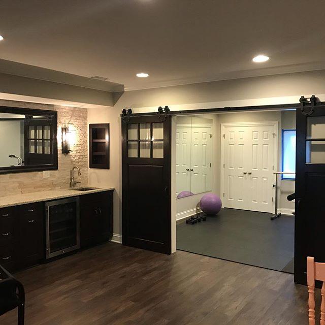 Visited a recent basement remodel!