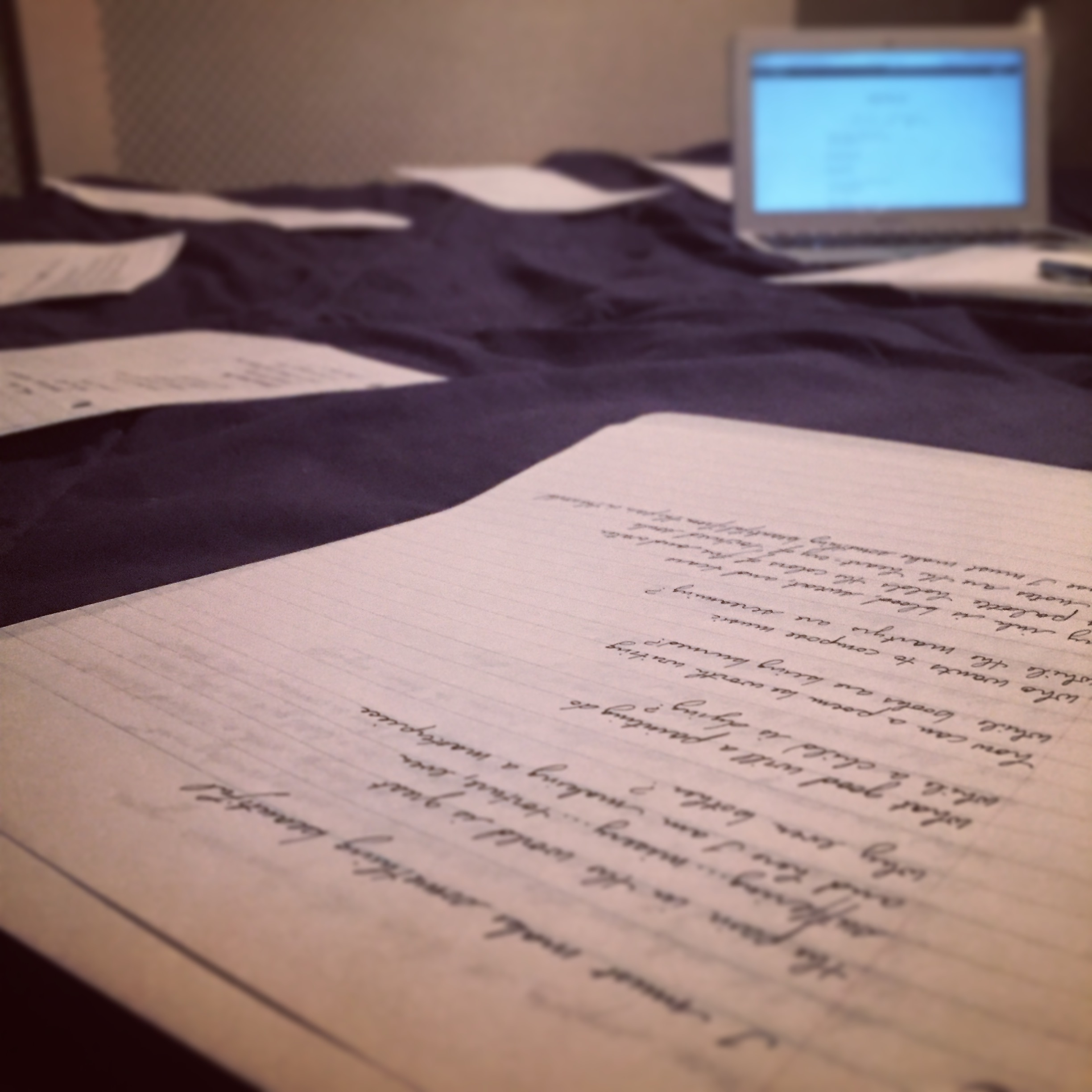 Sorting through some of my poetry...