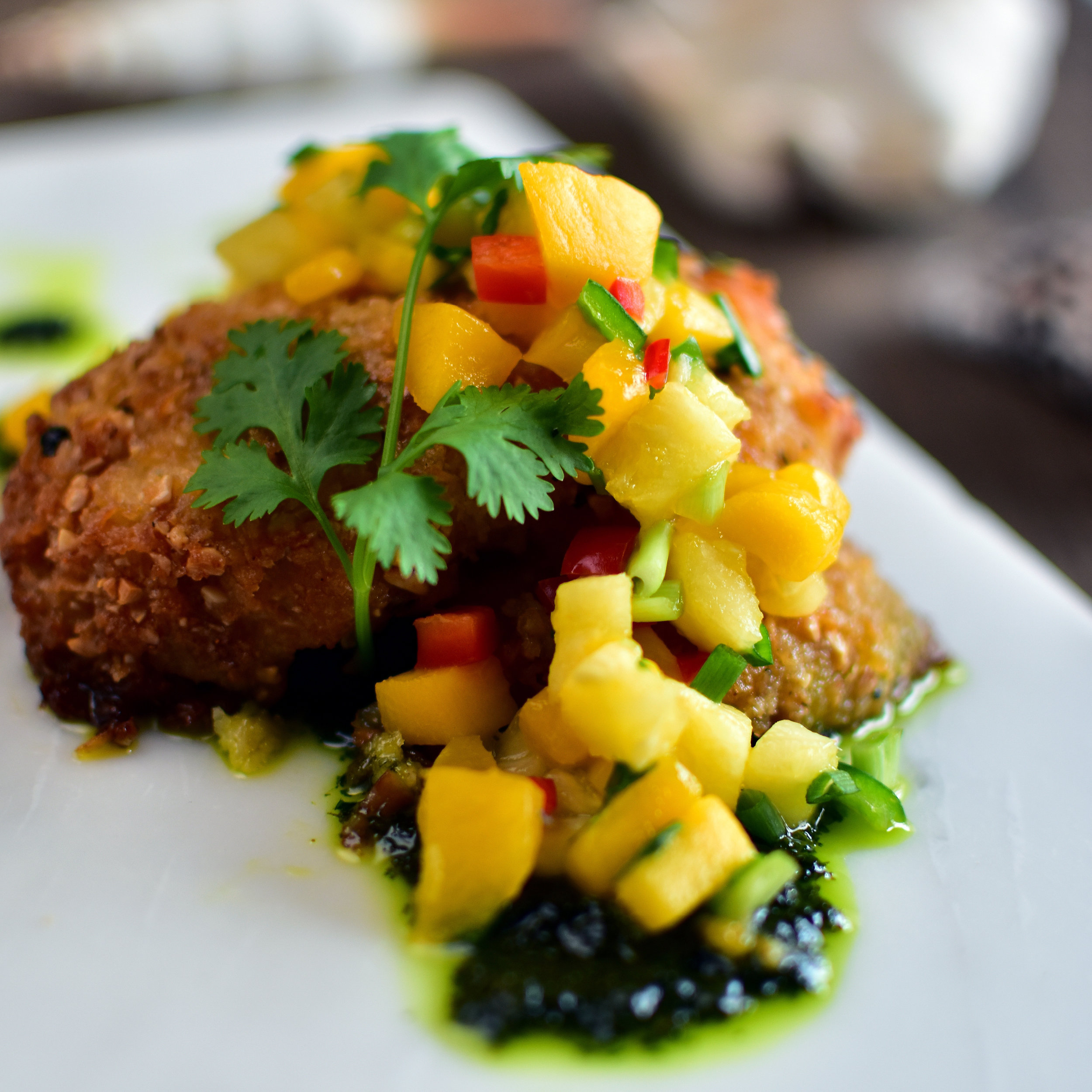 Coconut Fish with Tropical Salsa from Vikings SM Mall of Asia