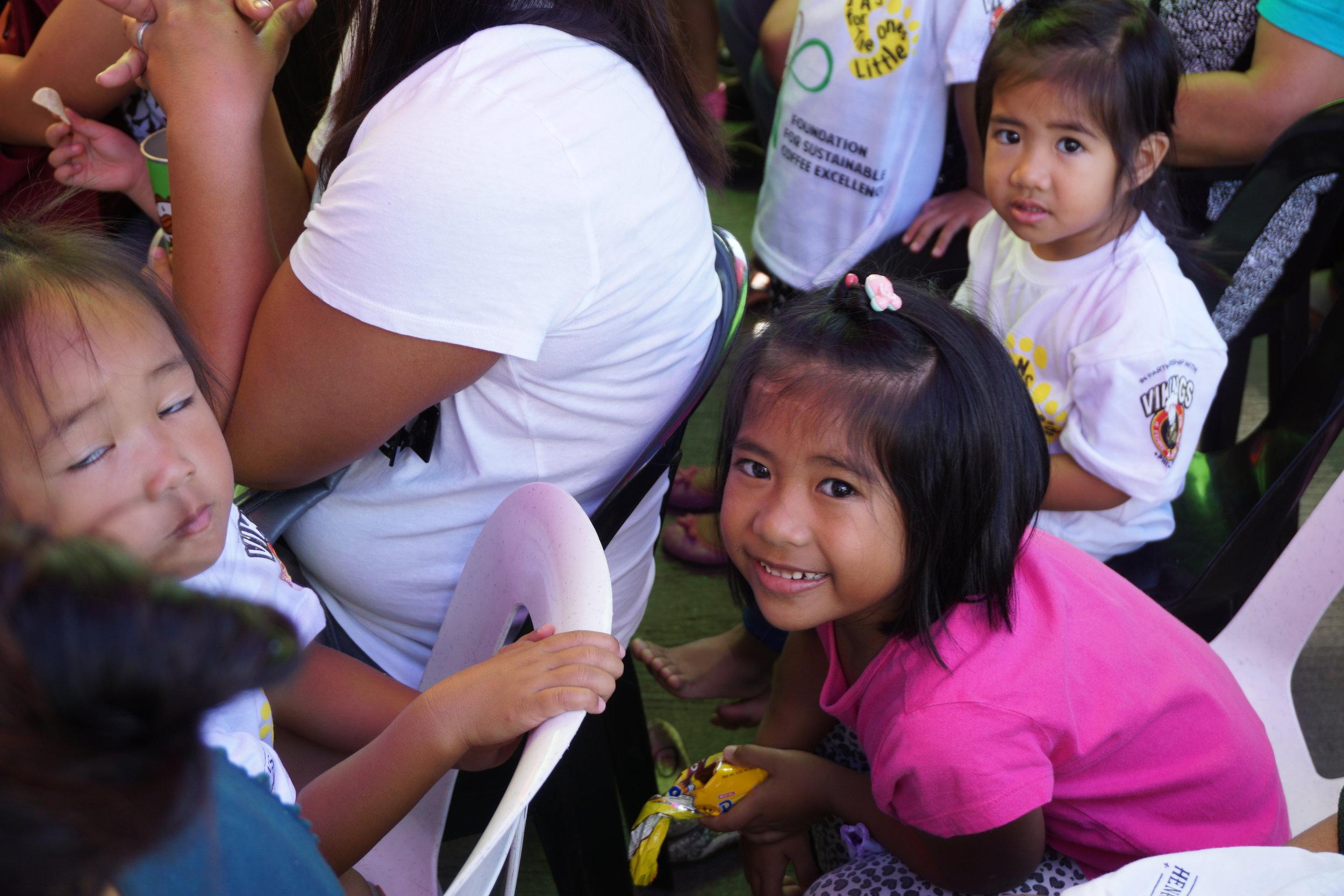 On photo:    Day care children of La Trinidad, Benguet