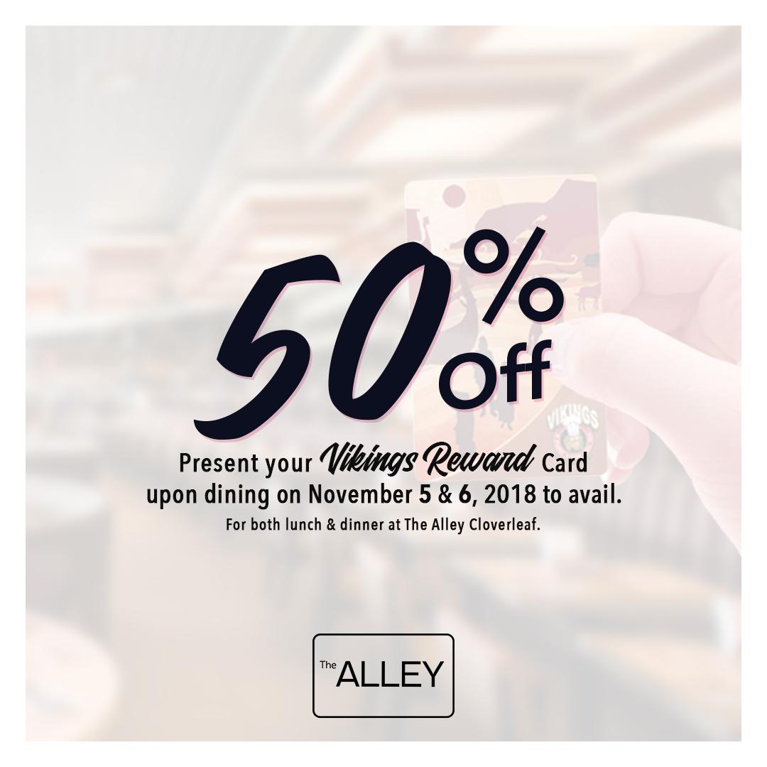 The Alley Cloverleaf - 50 Off Rewards.jpg