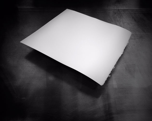 the anxiety of a blank sheet of paper