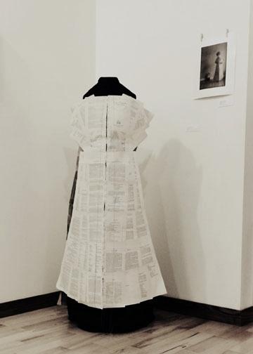 installation of  Paper Dress