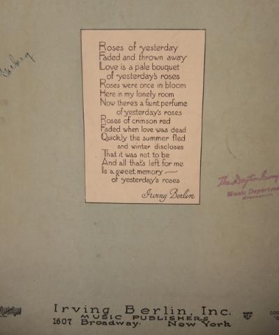 Irving Berlin sheet music